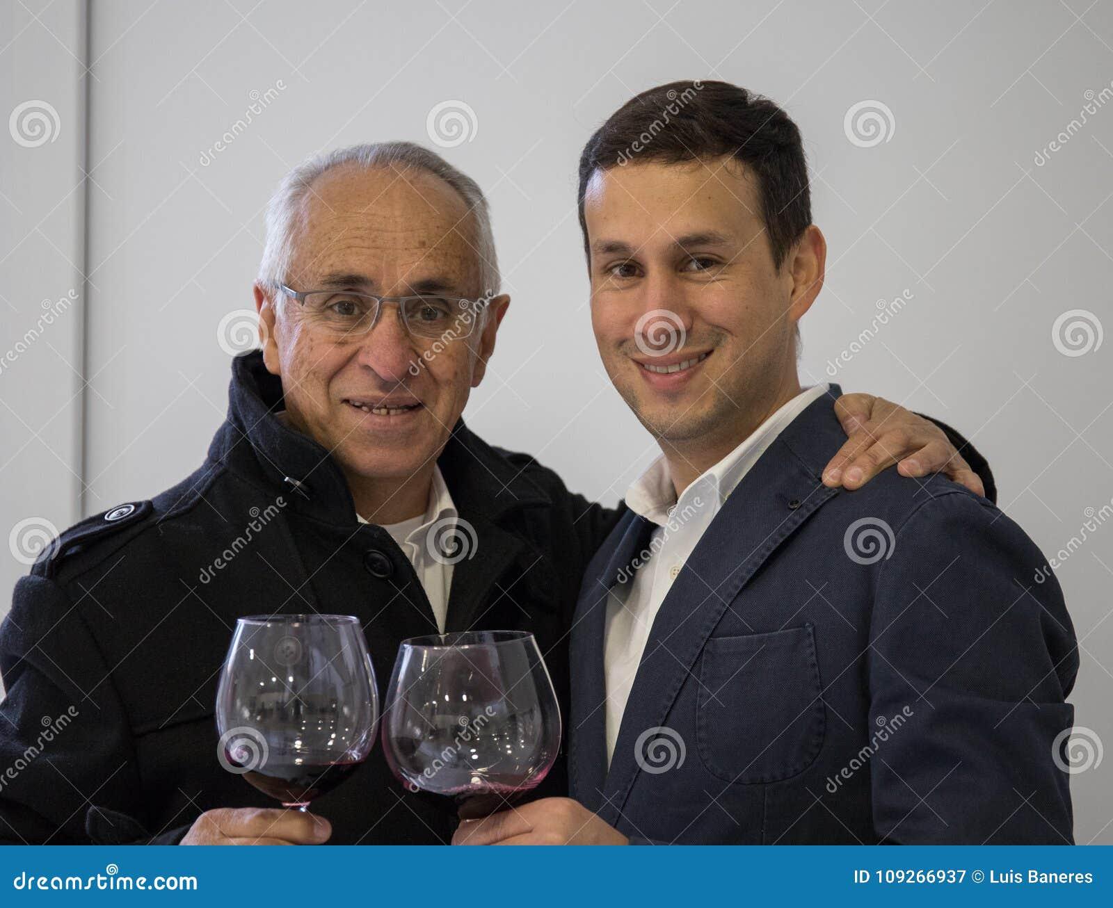 Świętowanie między ojcem i synem