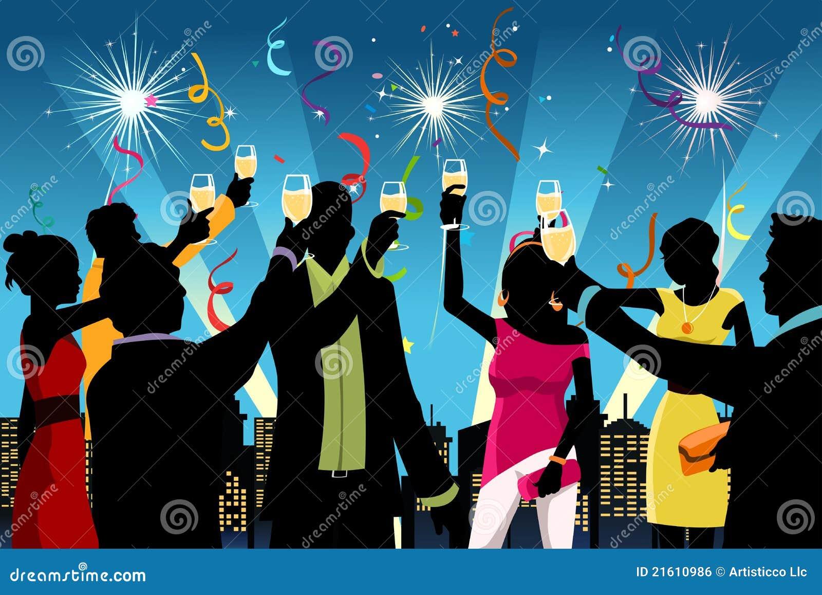 świętowanie rok nowy partyjny
