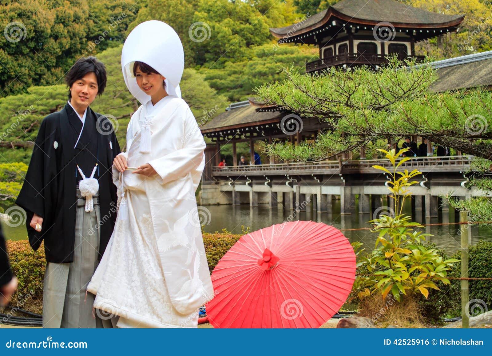 Świętowanie typowy ślub w Japonia