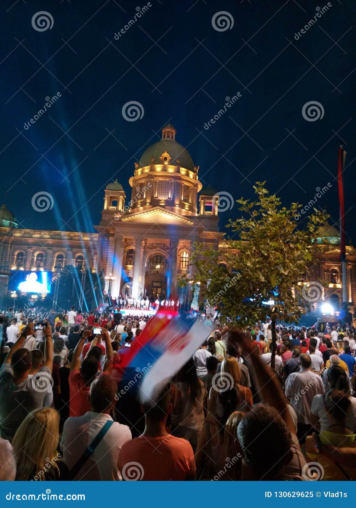Świętowanie w kapitale Serbia