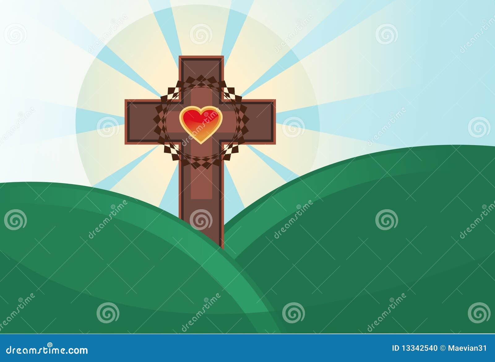 święty Easter przecinający temat