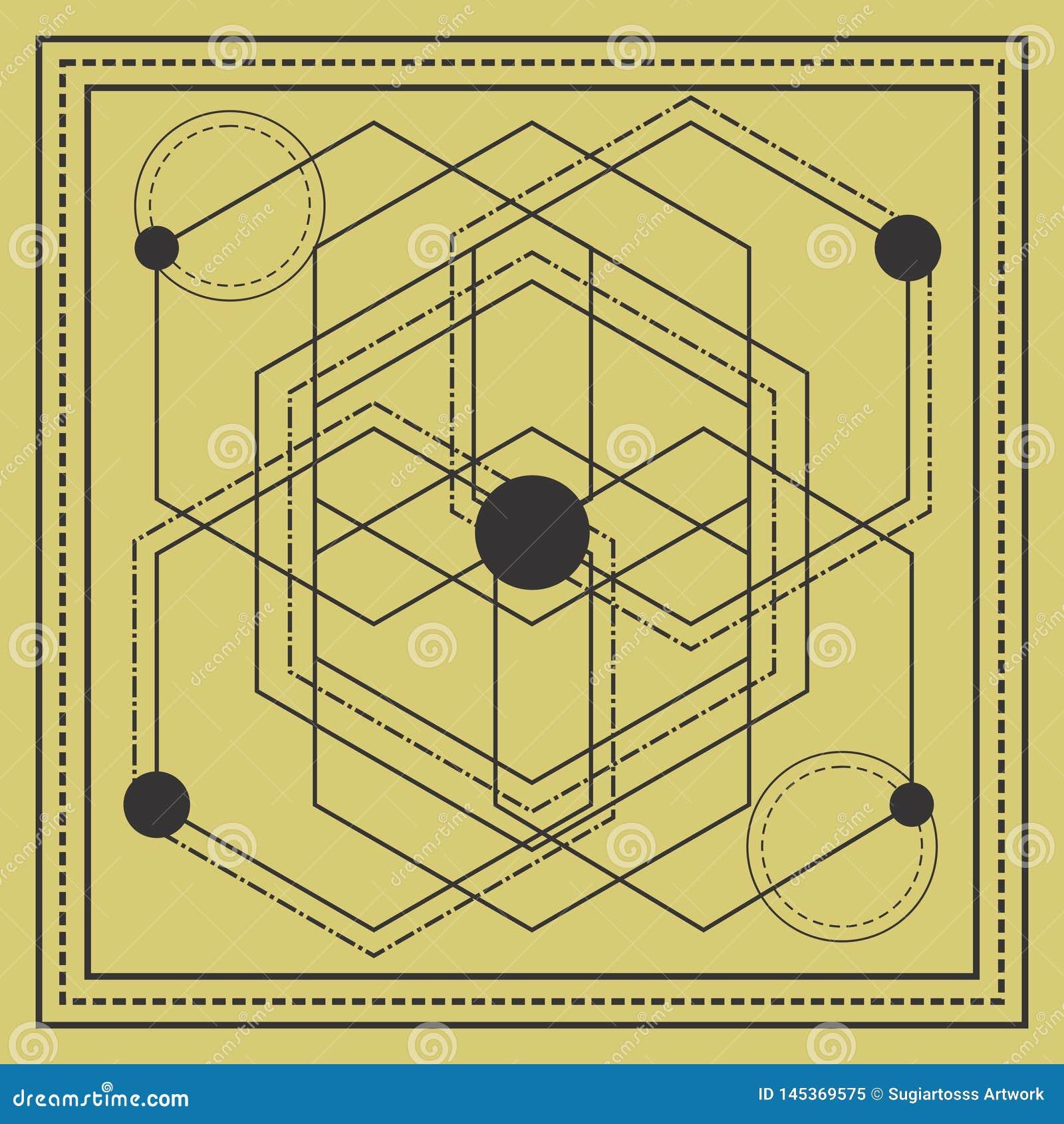 święty geometria kwadrata projekt