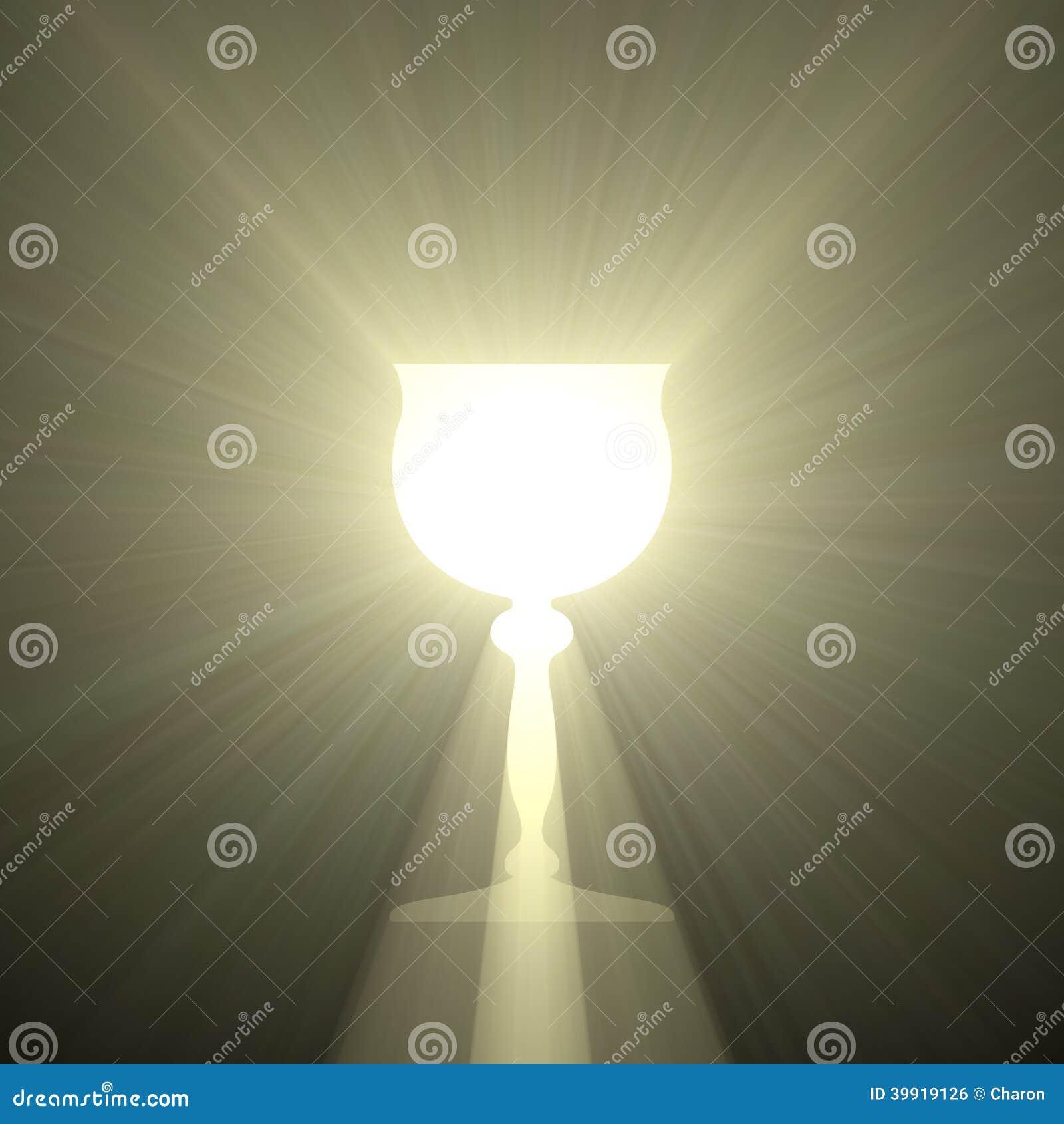 Święty Graal czara światło