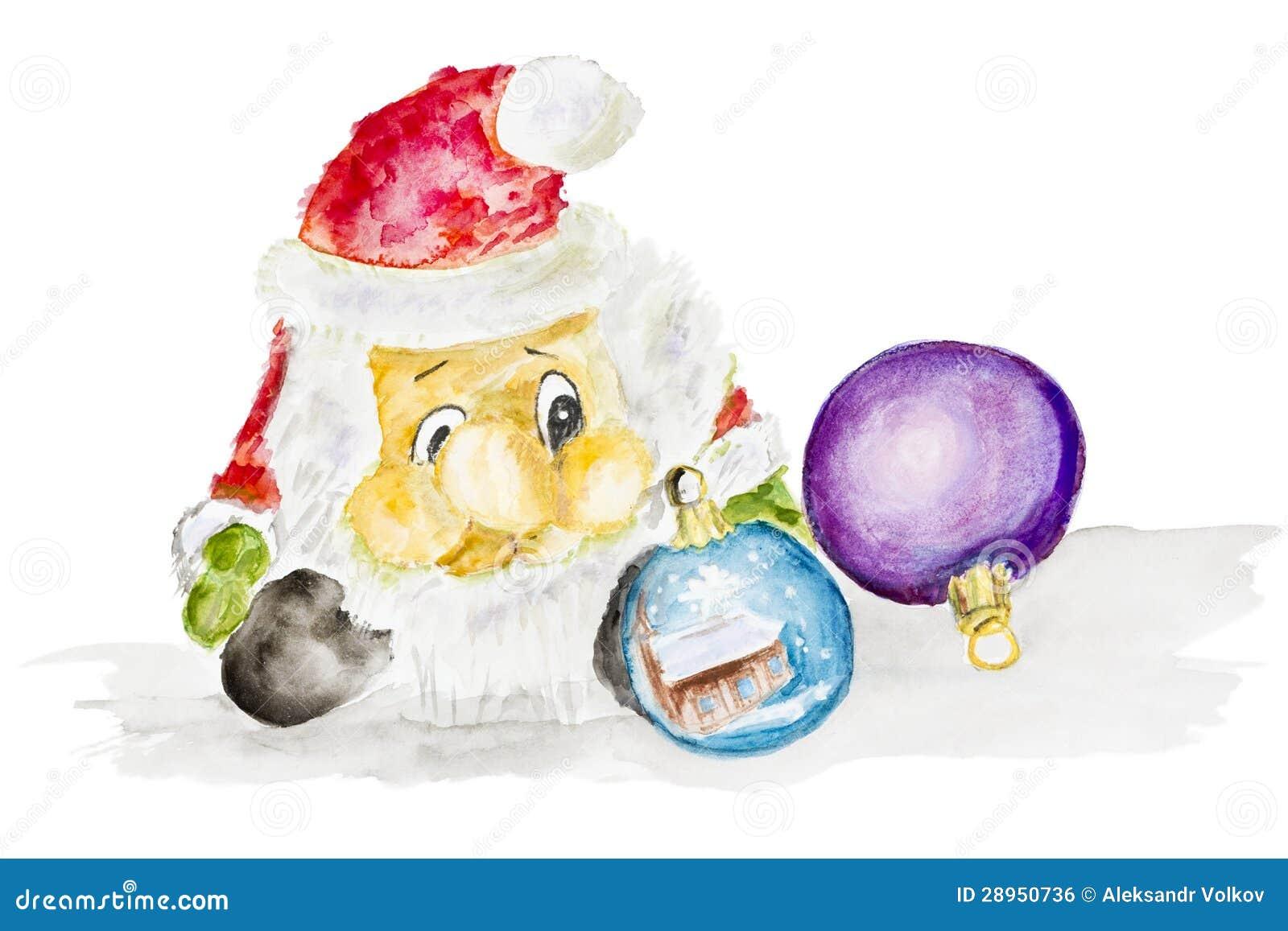 Święty Mikołaj i nowy rok piłka