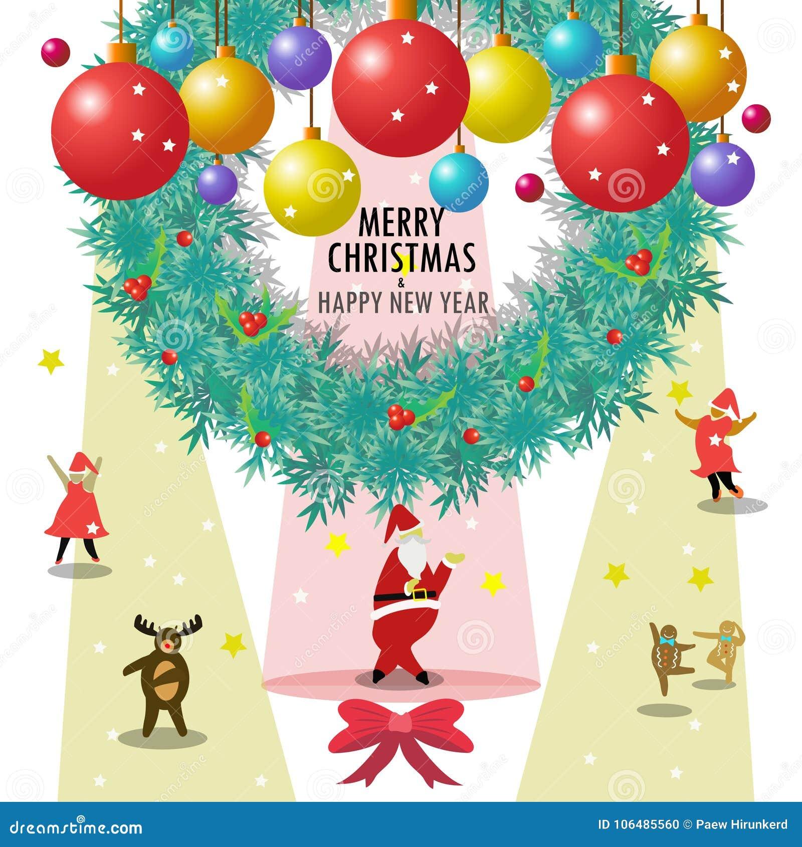 Święty Mikołaj i przyjaciele życzymy wam wesoło boże narodzenia & szczęśliwego nowego roku