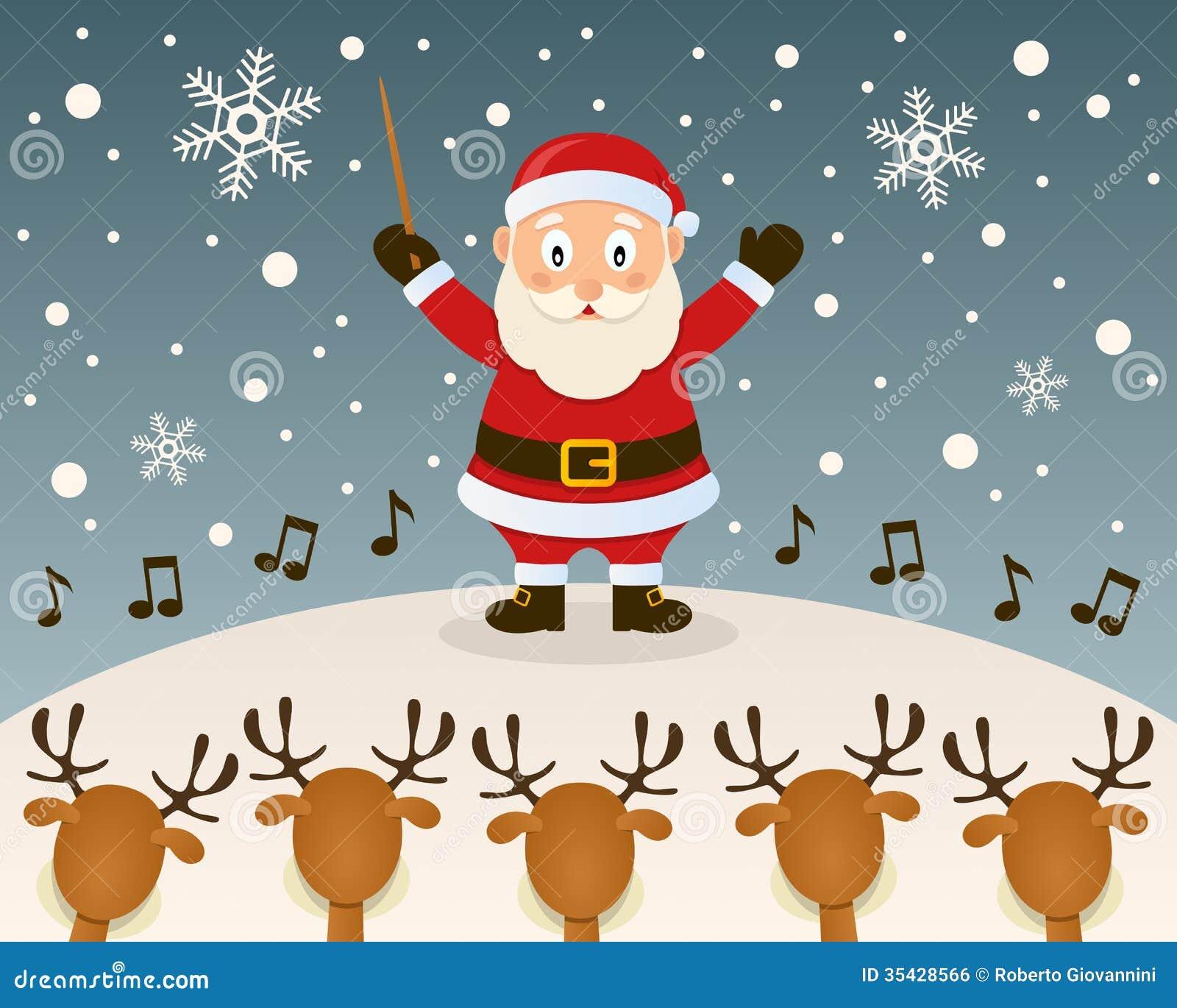 Święty Mikołaj orkiestry lider