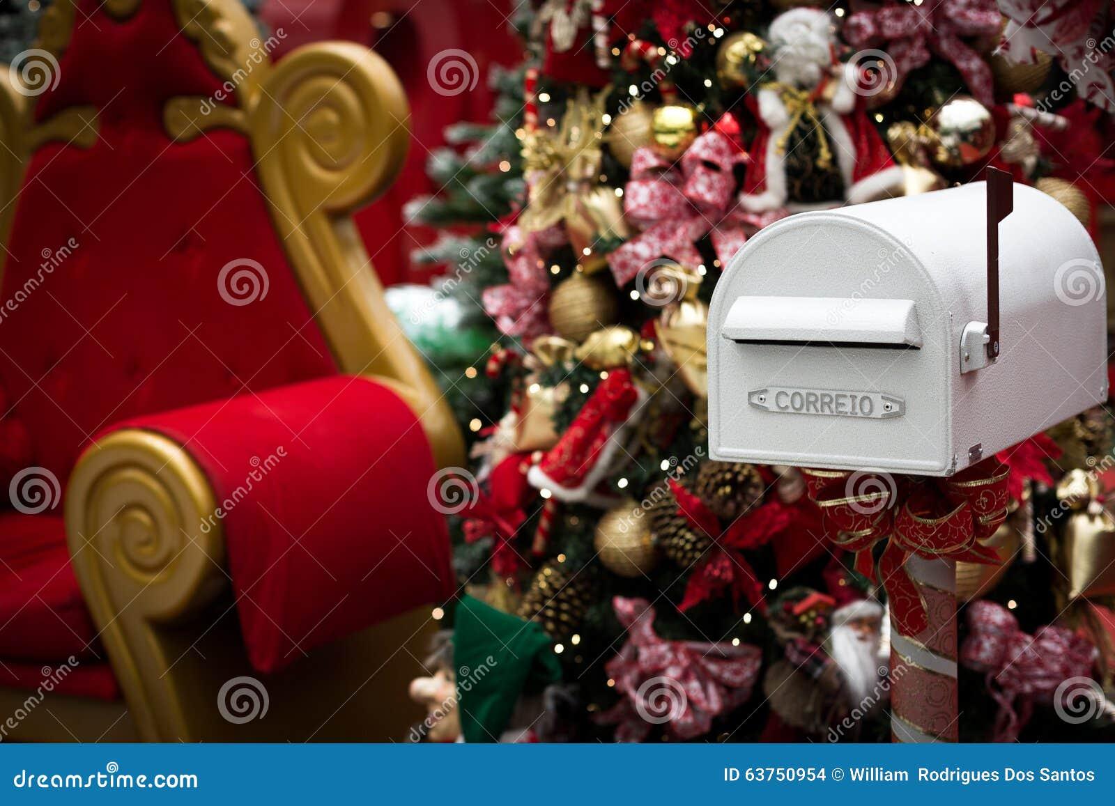 Święty Mikołaj skrzynka pocztowa