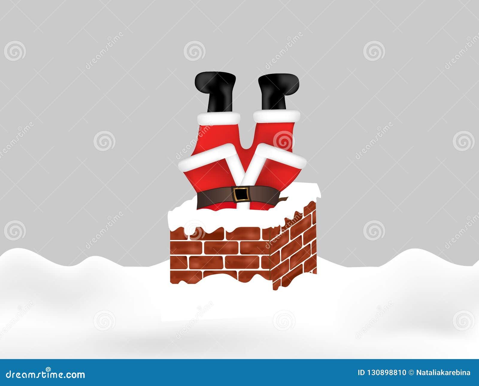 Święty Mikołaj wtykał w kominie do góry nogami abstrakcjonistycznych gwiazdkę tła dekoracji projektu ciemnej czerwieni wzoru star