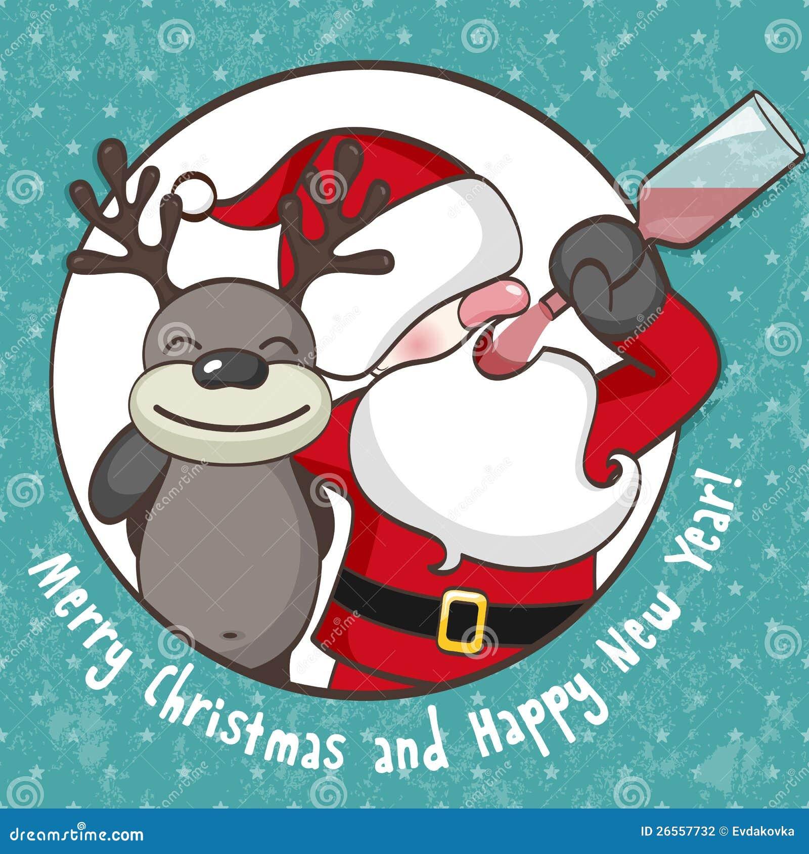Święty Mikołaj z reniferem