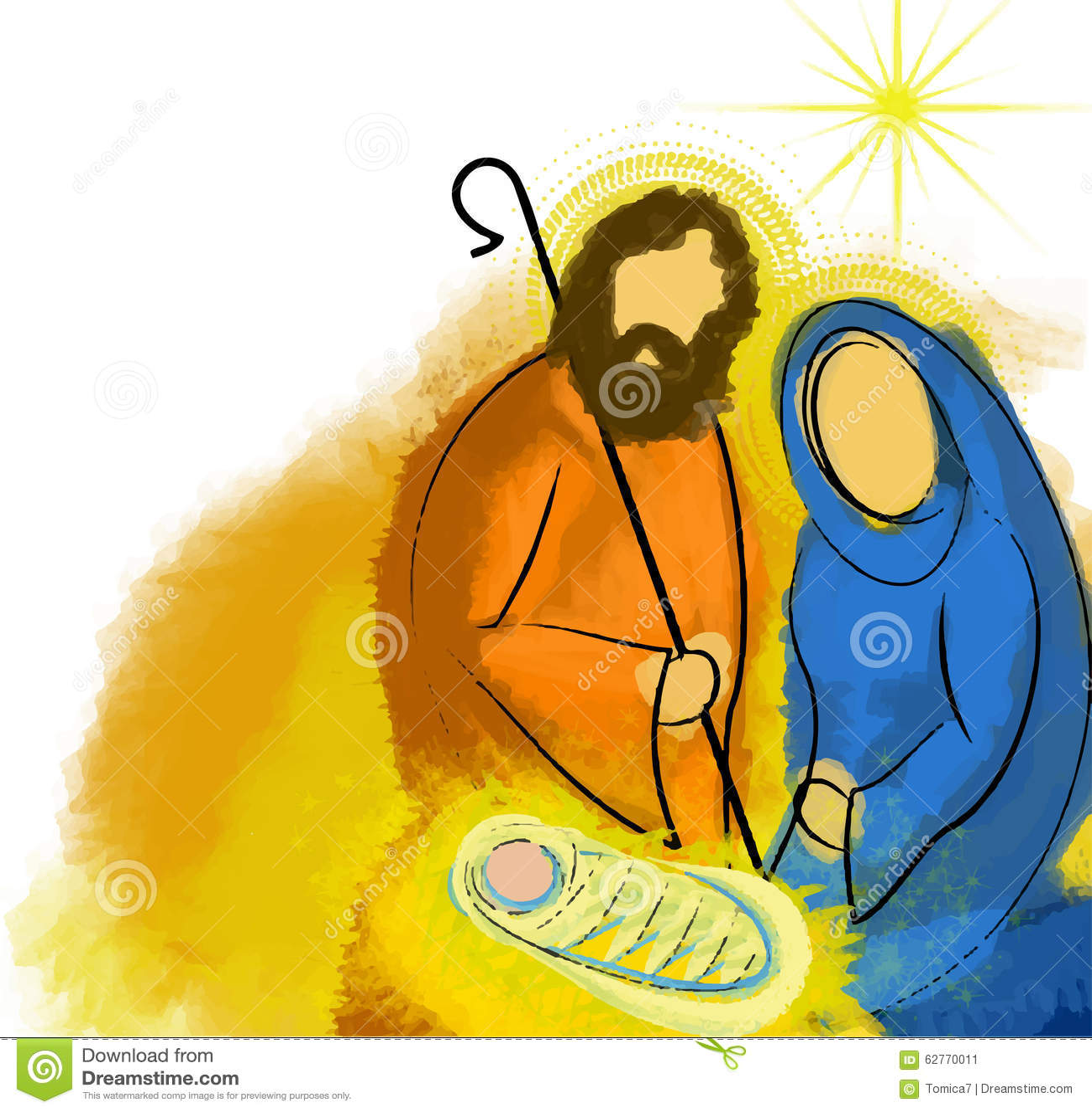 Święty rodzinny Bożenarodzeniowy narodzenie jezusa abstrakt