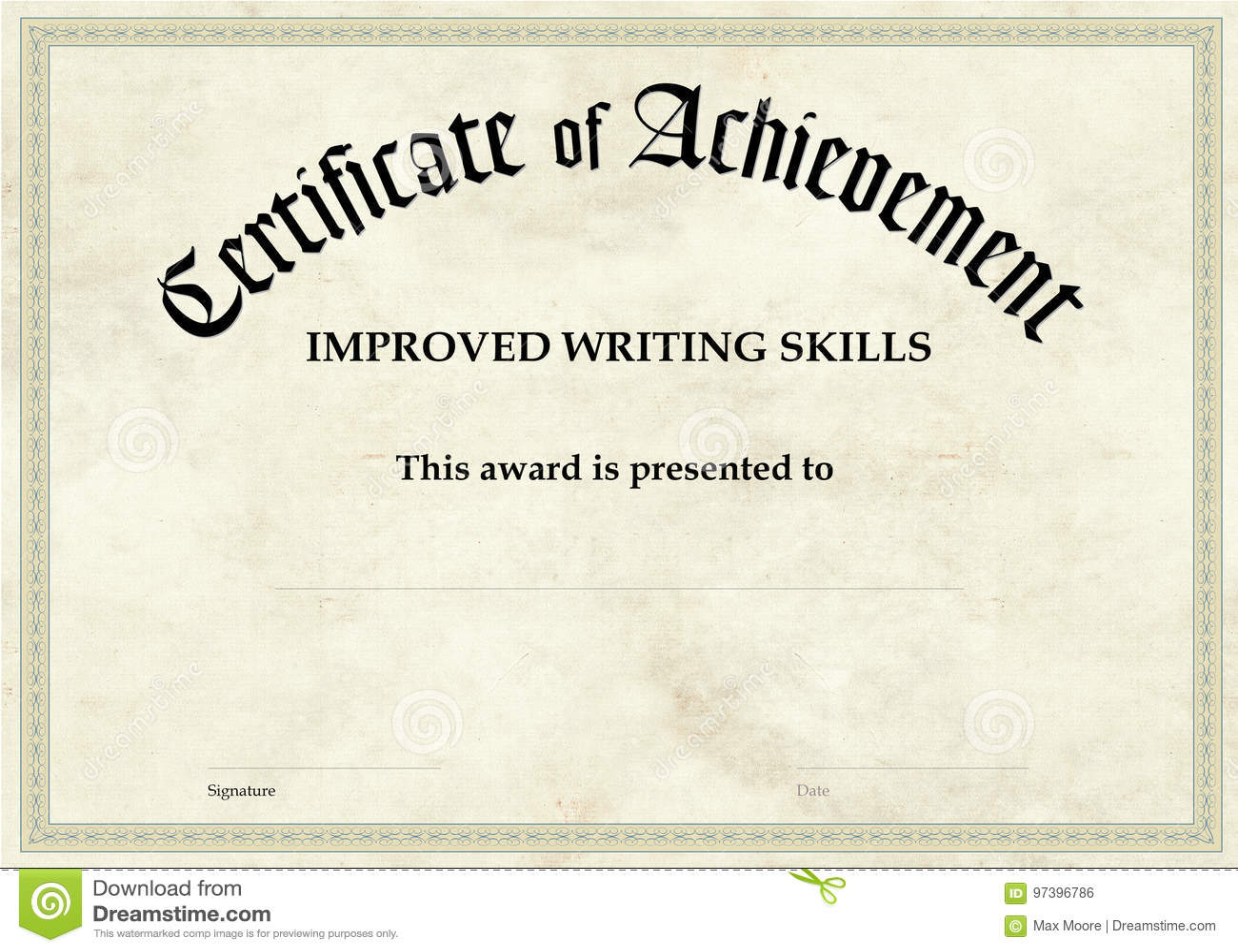Świadectwo osiągnięcie - Ulepszający Writing