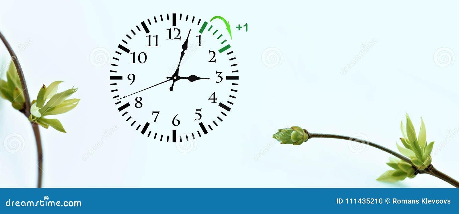 Światła dziennego oszczędzania czas DST Ścienny zegar iść zima czas Zwrota czas naprzód