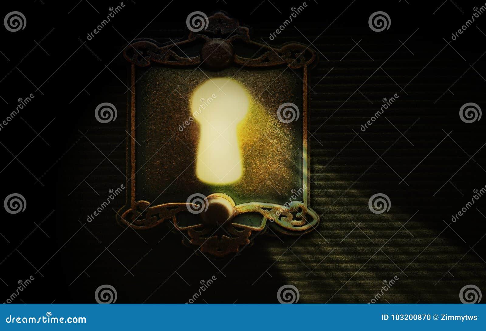 Światło przez kędziorka keyhole