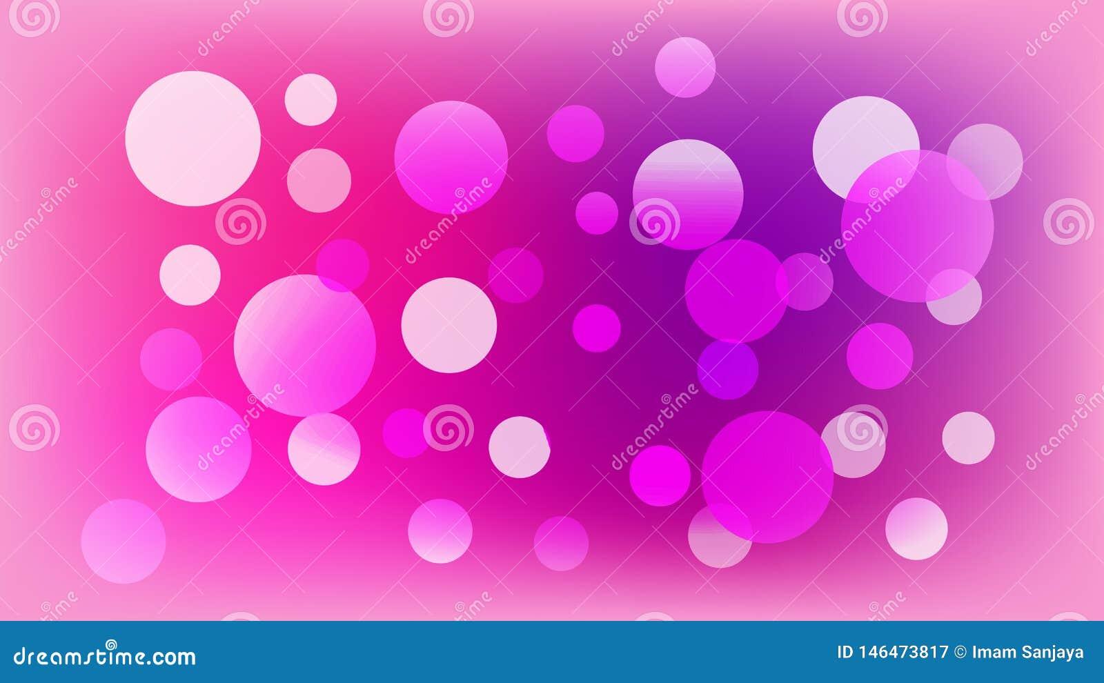 Światło - różowy wektorowy tło z okręgami Ilustracja z setem b?yszcze? kolorow? gradacj? Wz?r dla broszur, ulotki