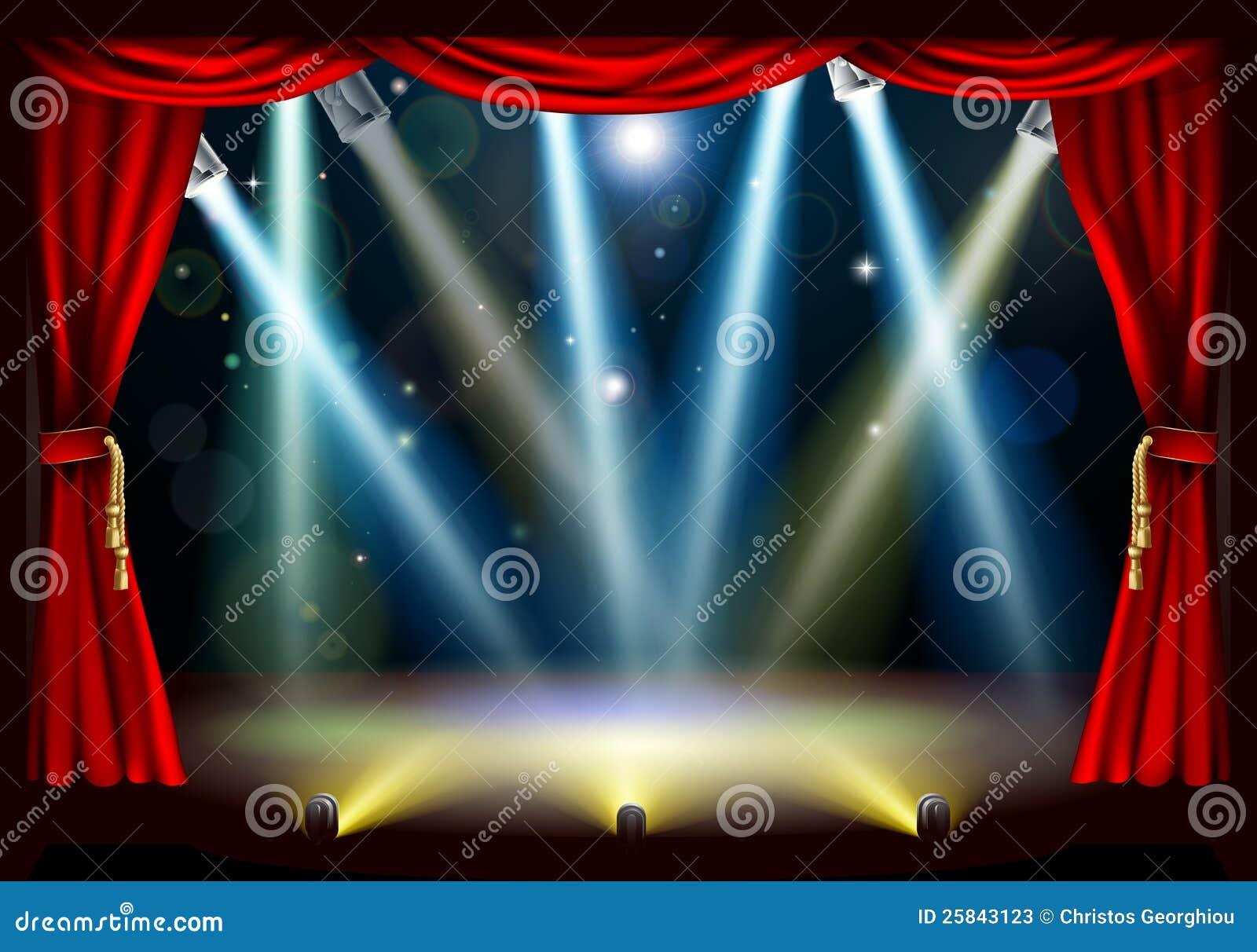 Światło reflektorów theatre scena