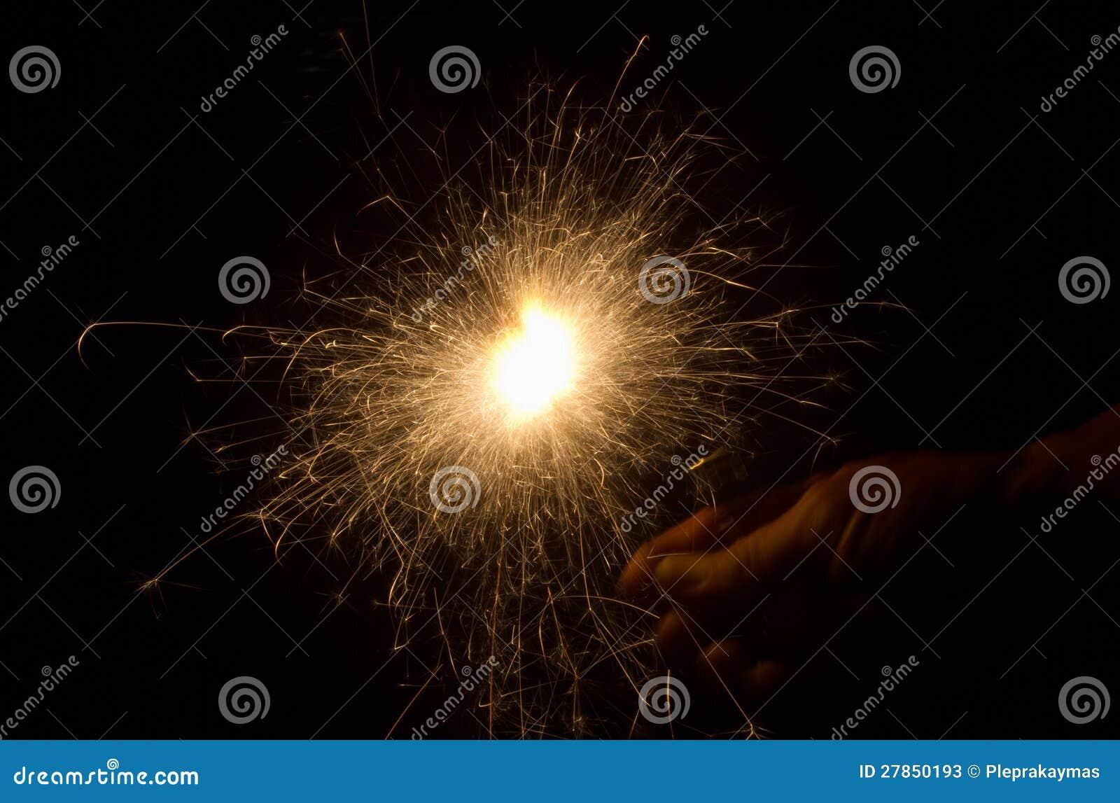 światło sparkler