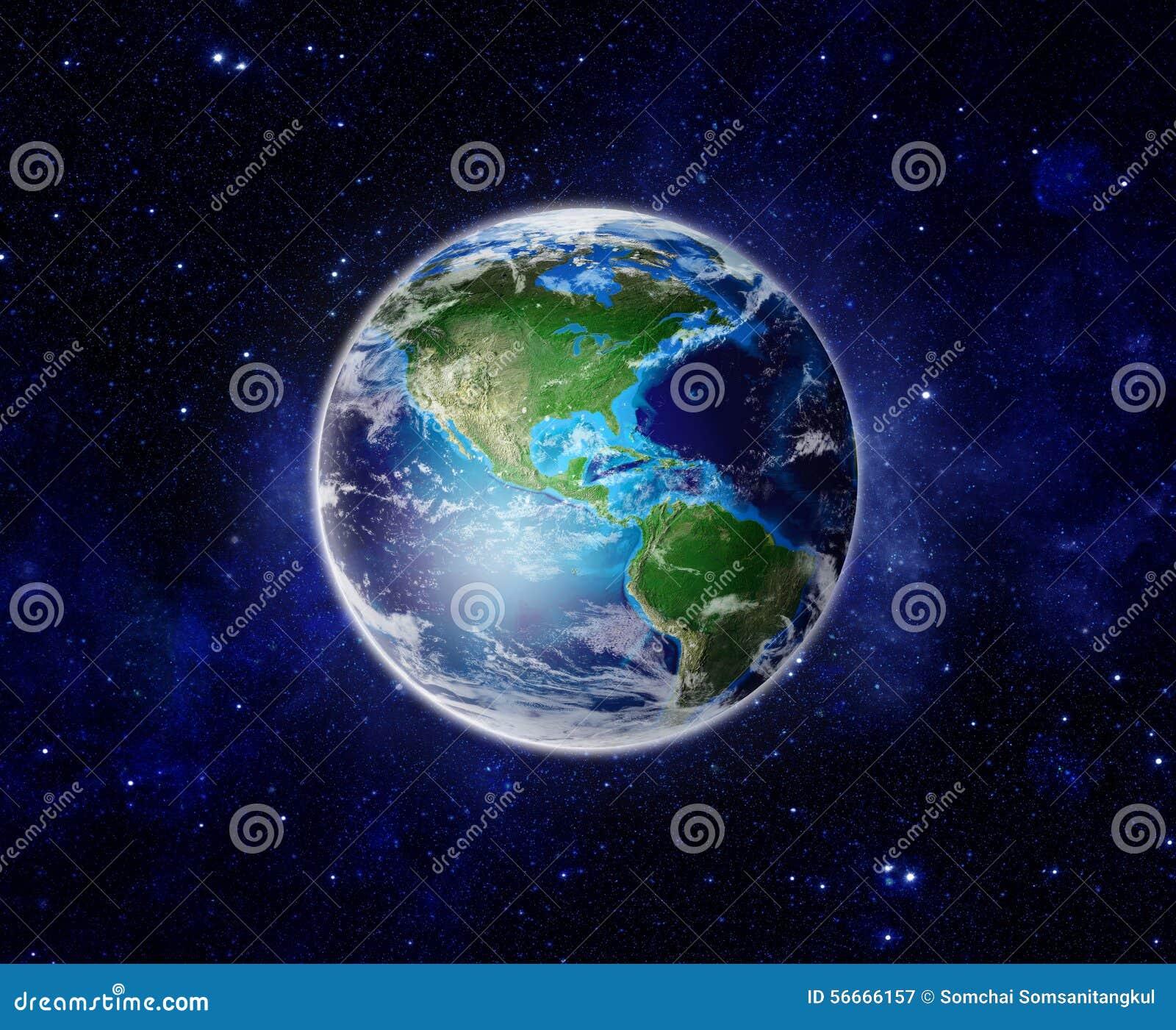 Świat, planety ziemia od przestrzeni pokazuje Ameryka, usa