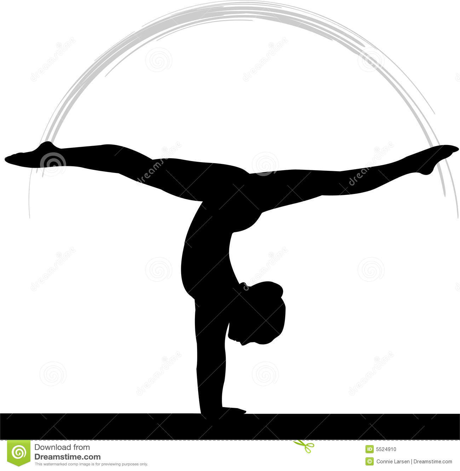 świateł równowagi jest gimnastyk kobiety.