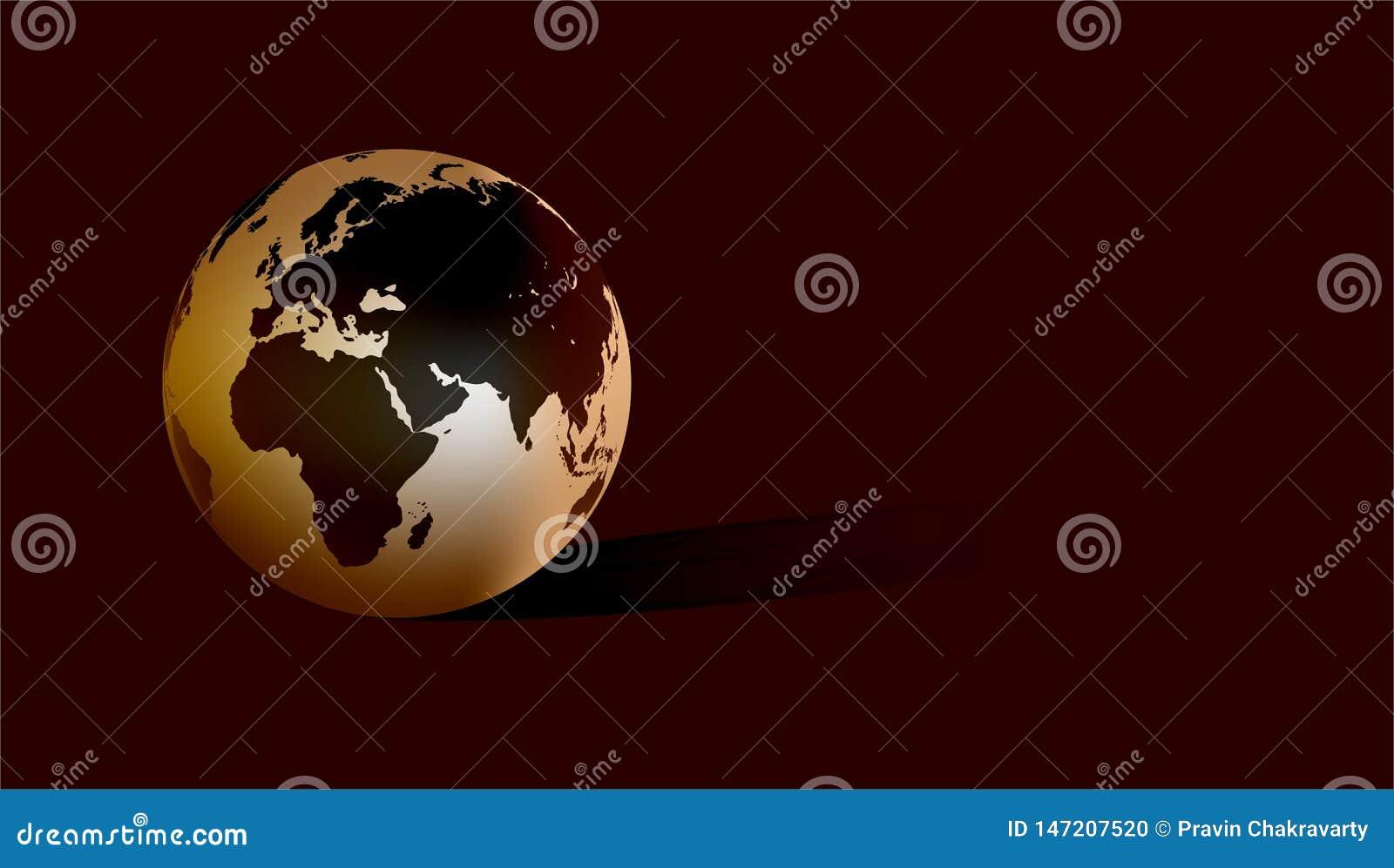 Światowa kula ziemska z ciemnym tłem r?wnie? zwr?ci? corel ilustracji wektora