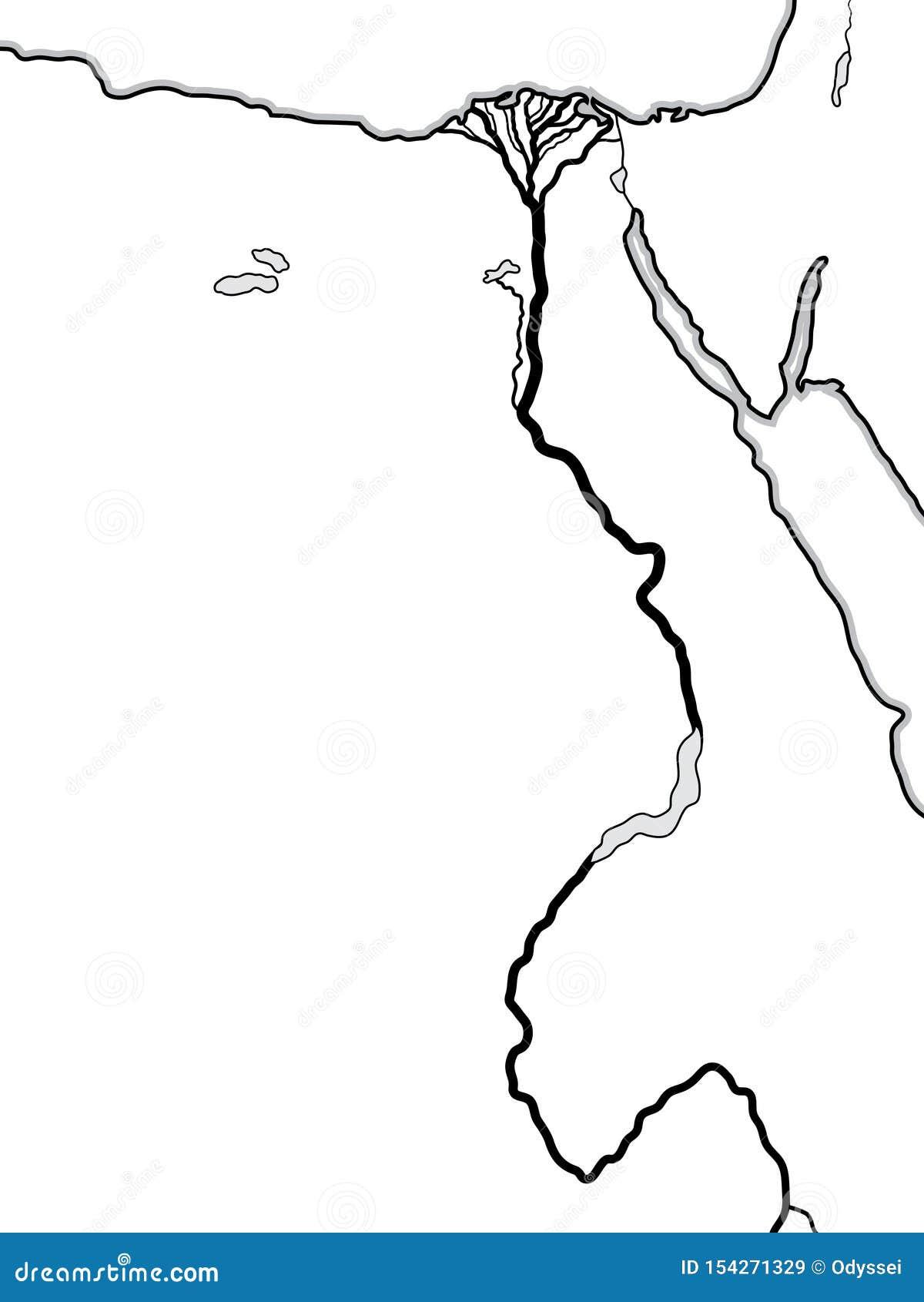 Światowa mapa EGIPT i LIBIA: Afryka Pólnocna, Niski wierzch Egipt, Egipt Nil rzeka I swój delta, Geograficzna mapa