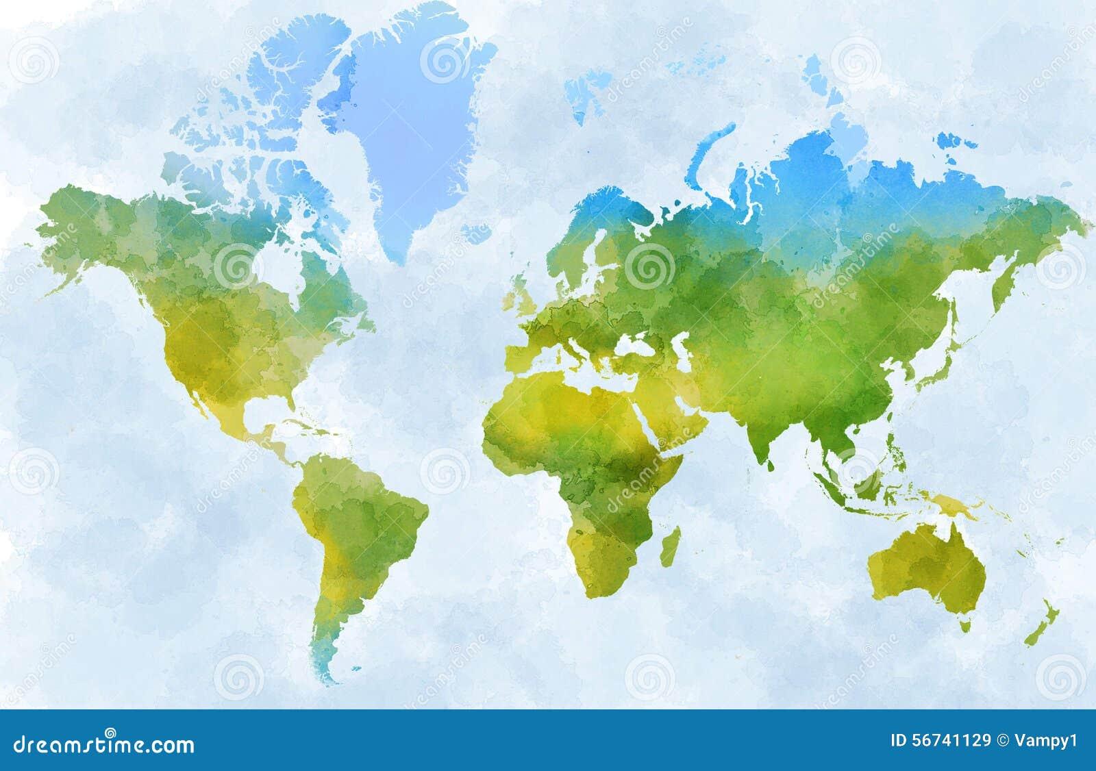 Światowa mapa, projektujący obrazkowi uderzenia