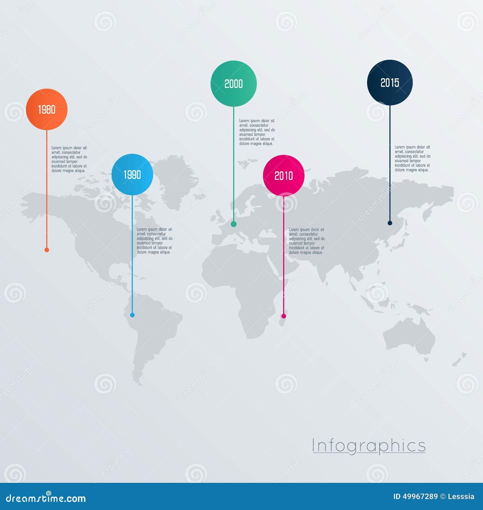 Światowej mapy ilustracyjnego infographics pojęcia geometryczny projekt