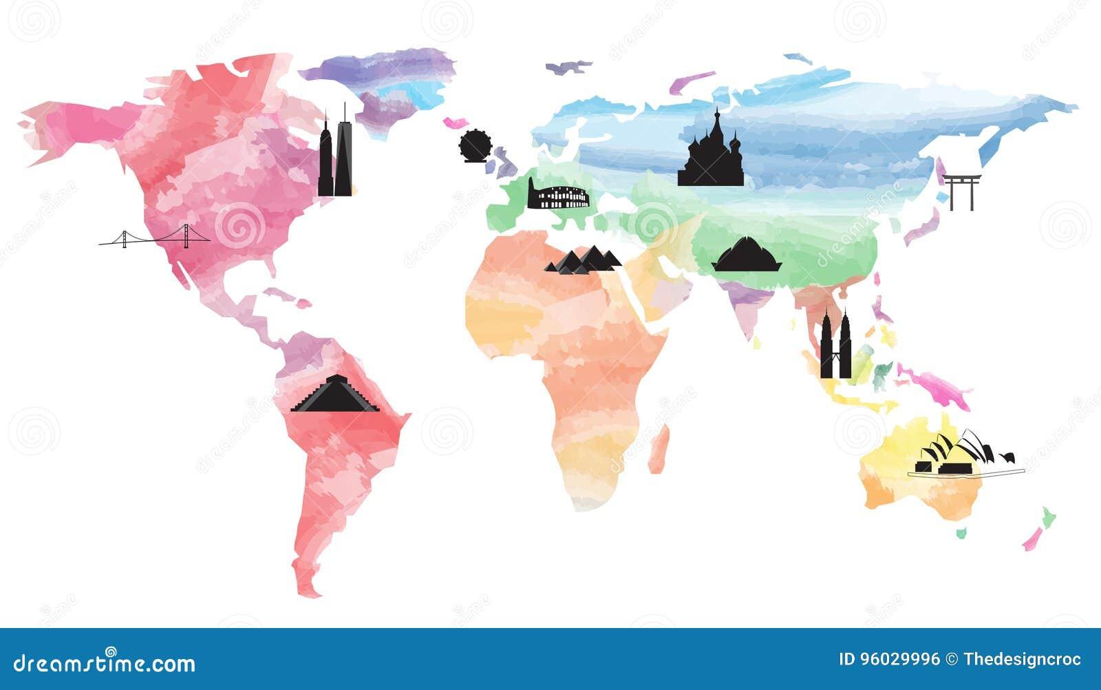 Światowej mapy punkty zwrotni