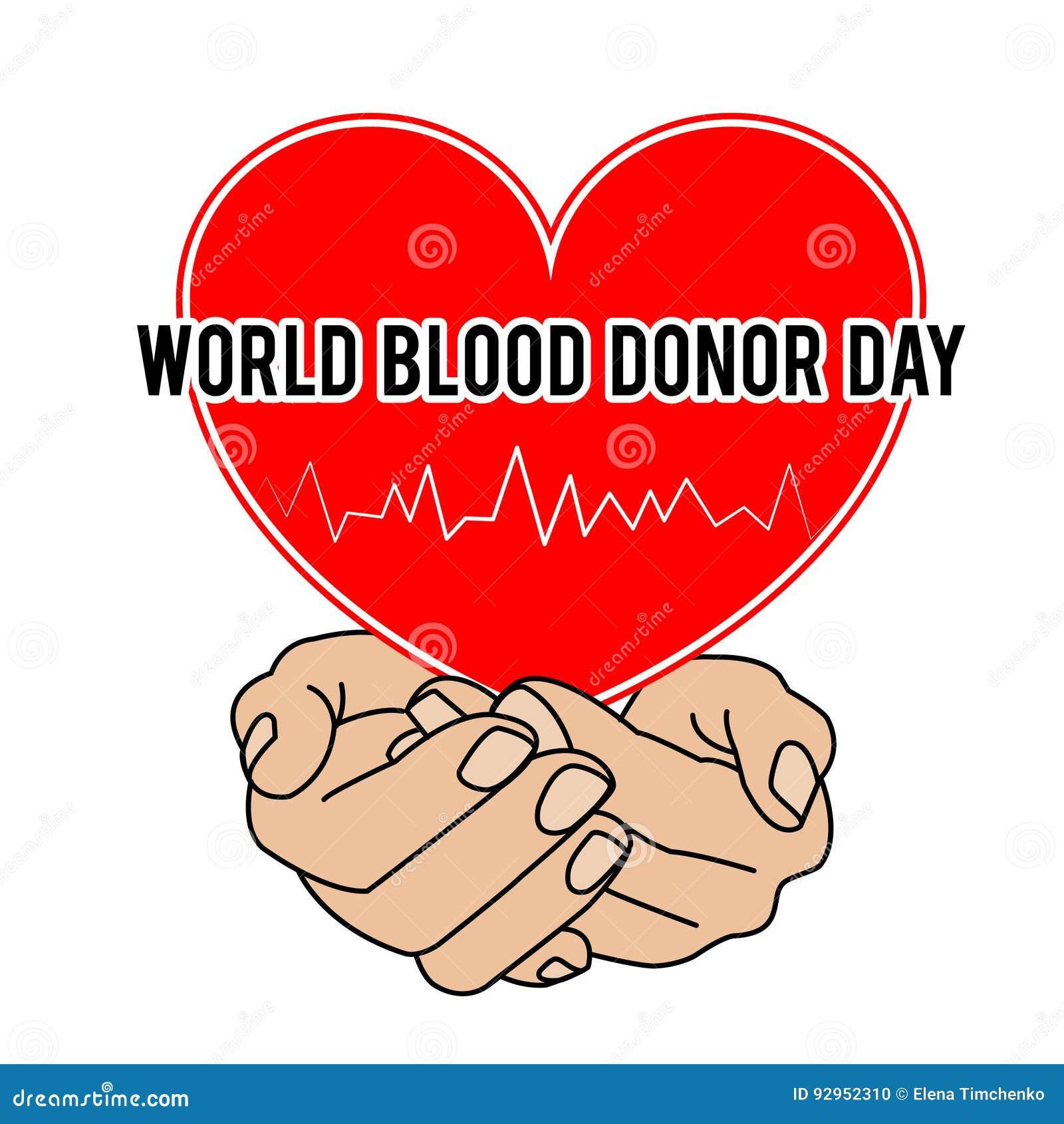 Światowy Krwionośnego dawcy dzień Wektorowa ilustracja dla wakacje 14 Czerwiec
