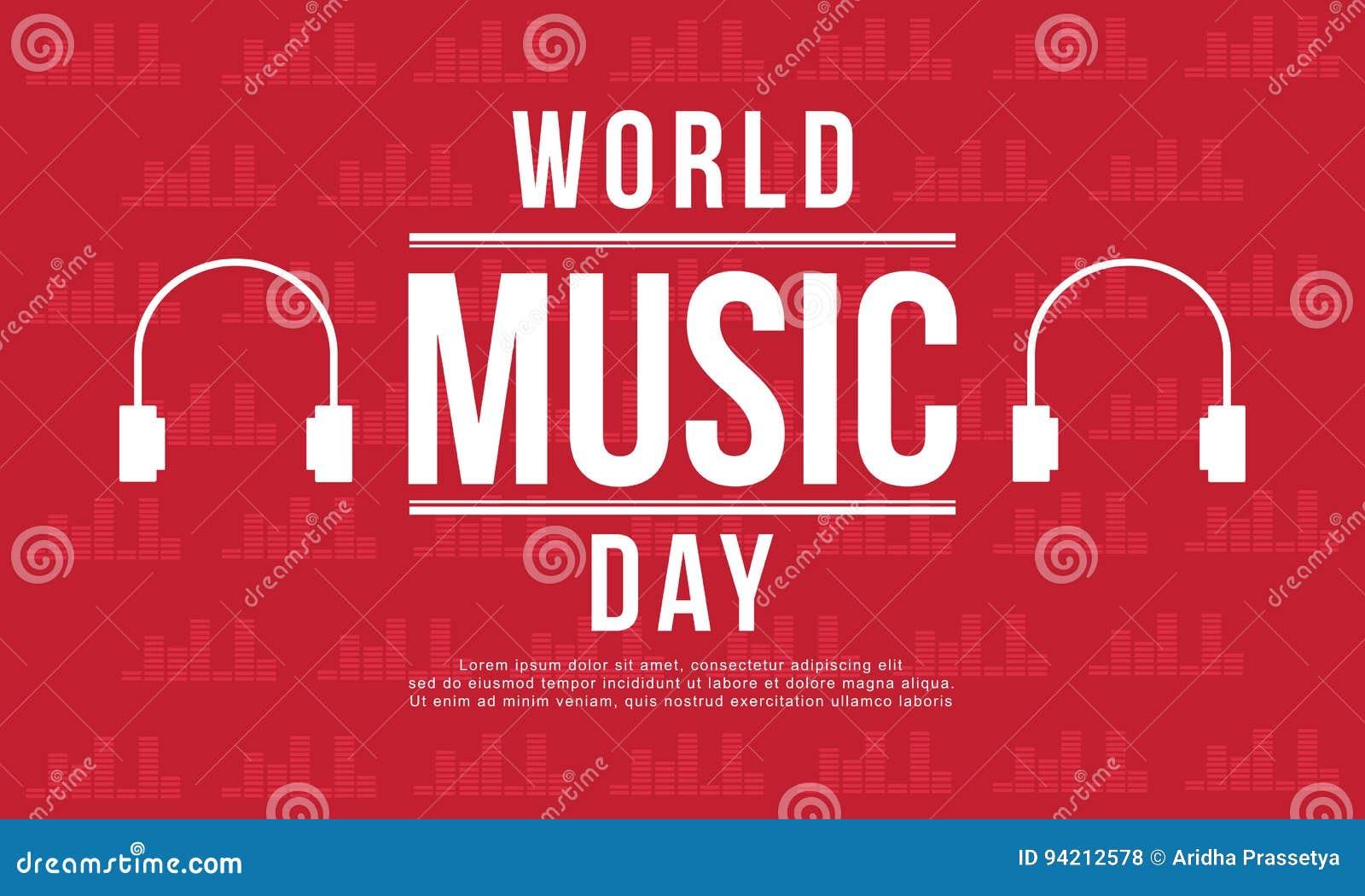 Światowy muzyczny dnia sztandaru styl