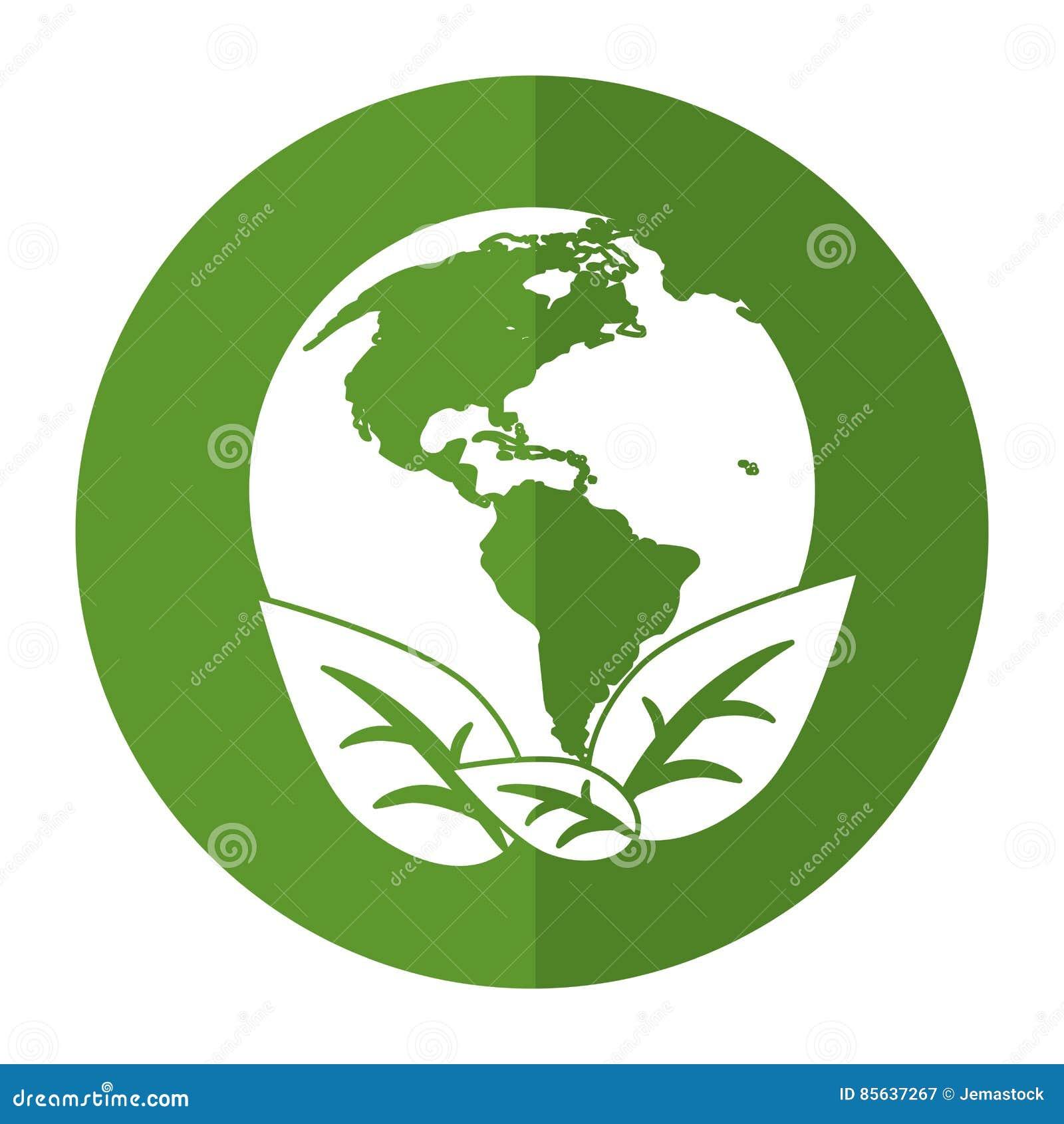 Światu ziemski ekologiczny środowisko opuszcza symbolu cień
