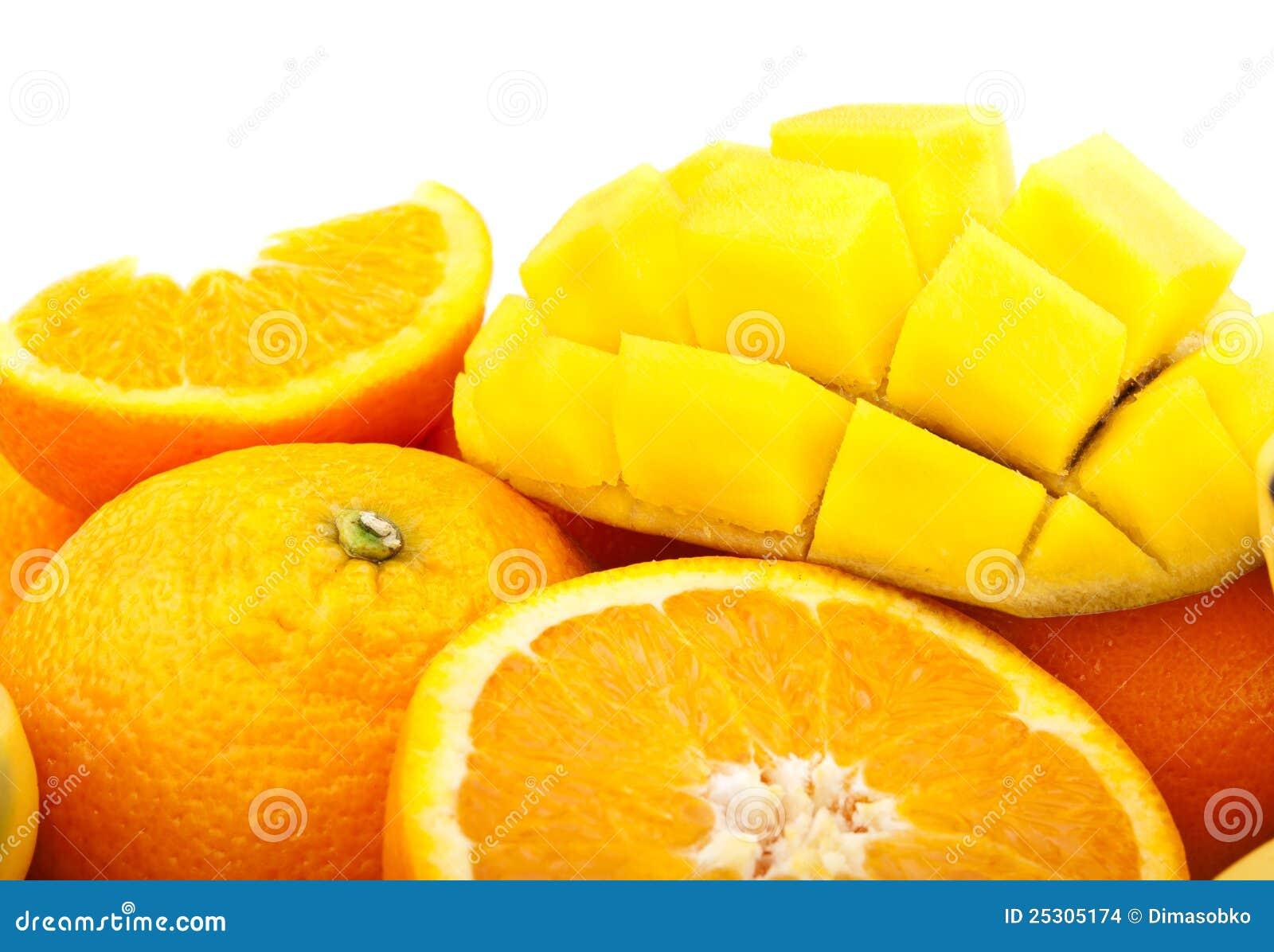 świeża mangowa pomarańcze