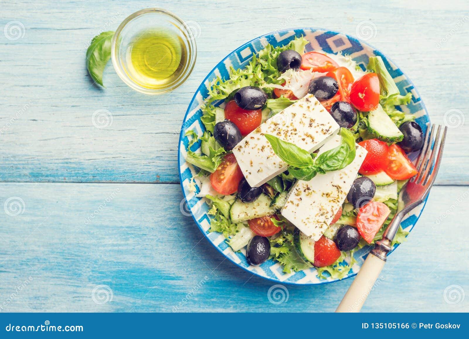świeże grecka sałatka
