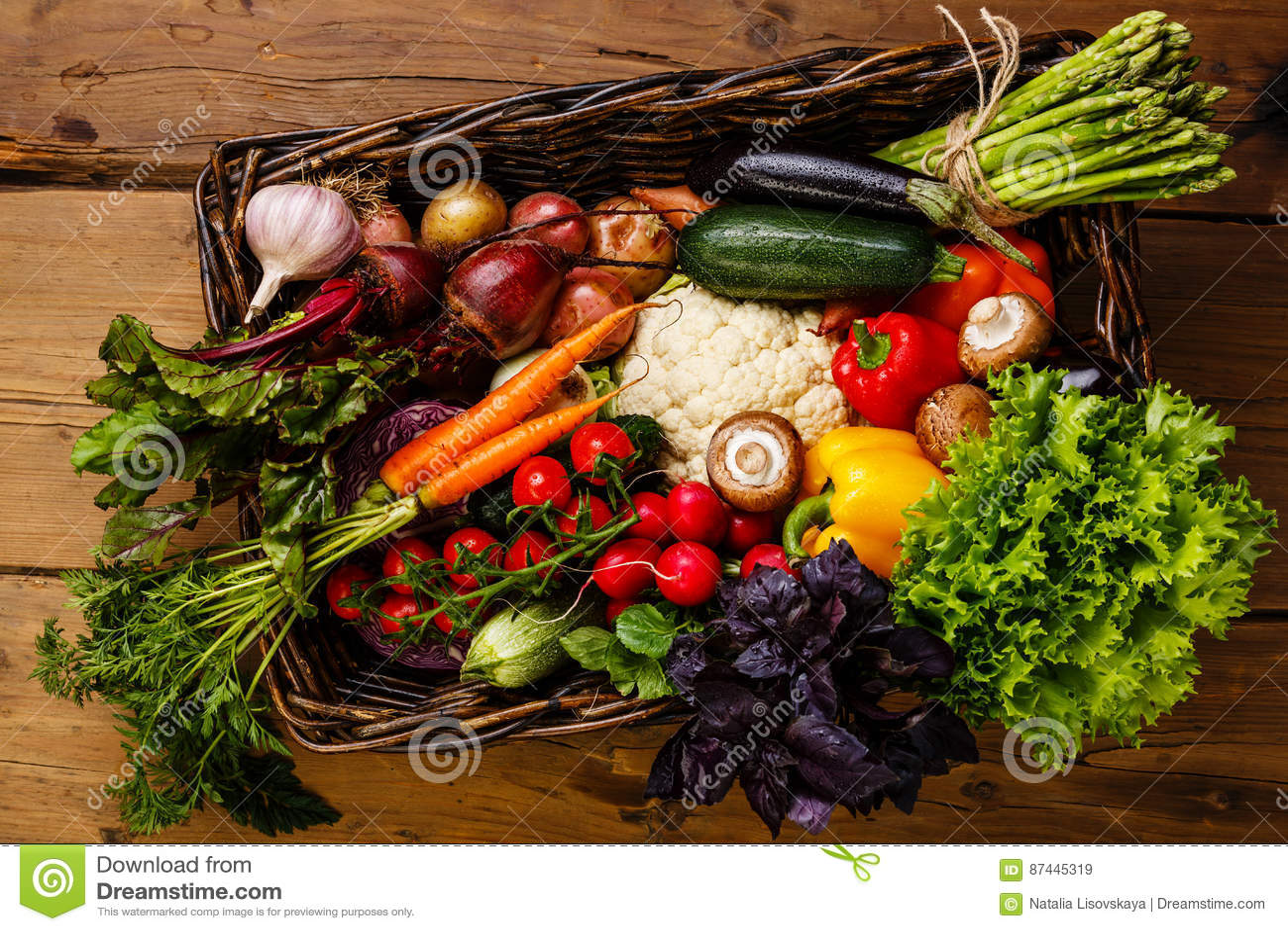 świeże warzywa koszykowi