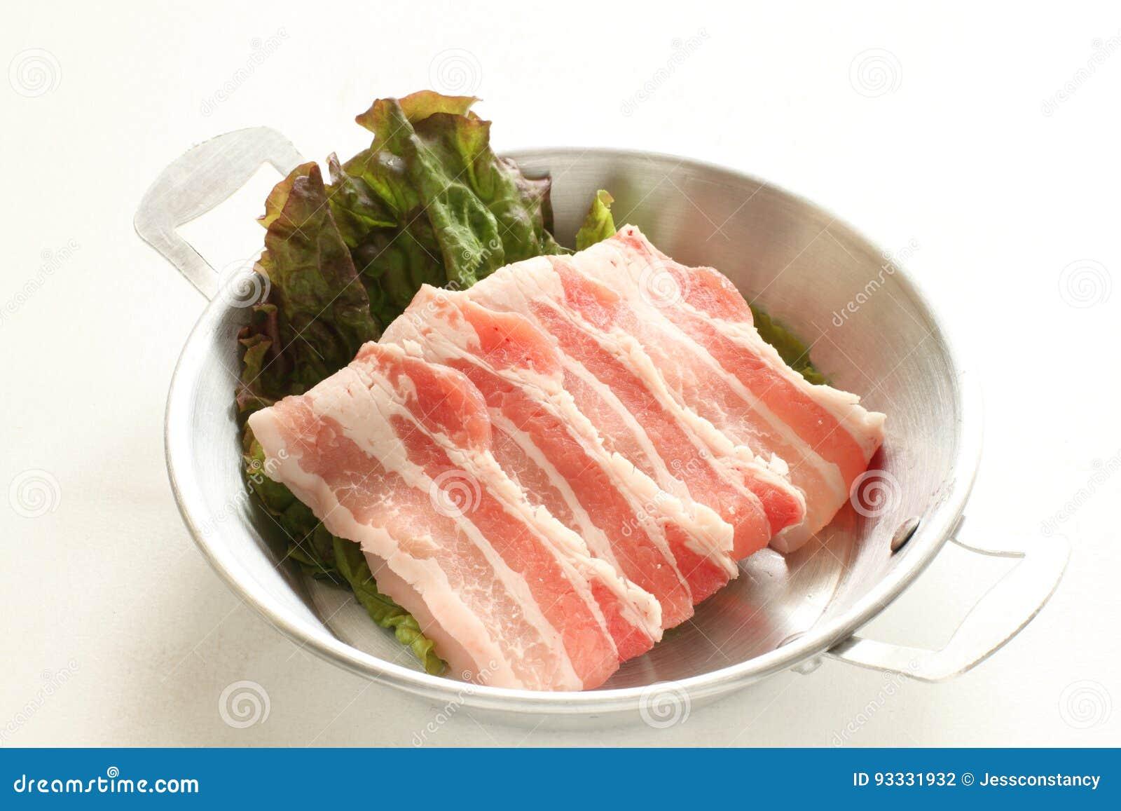 Świeżość brzucha pokrojona Japońska wieprzowina