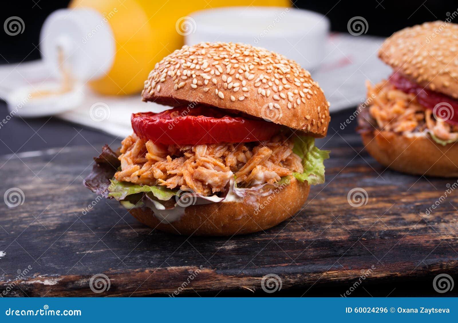 Świeżo przygotowana niedbałego Joe kanapka