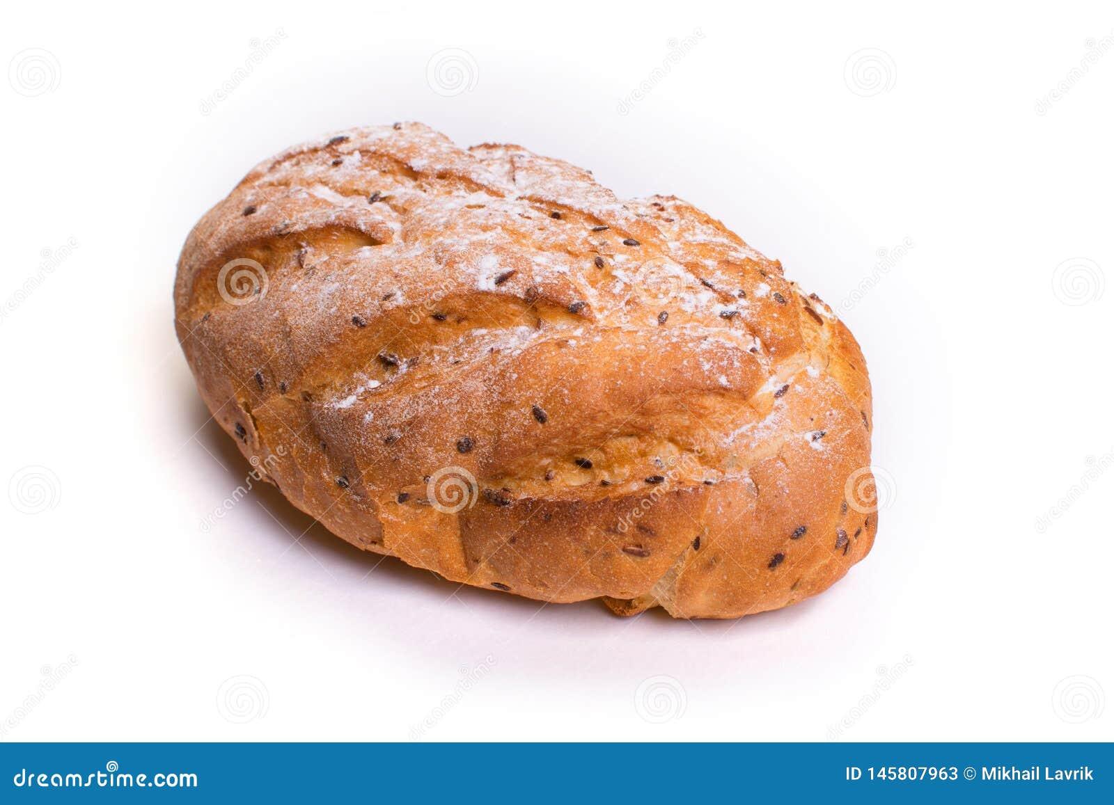 Świeży crispy chleb z sezamowymi ziarnami odosobniony