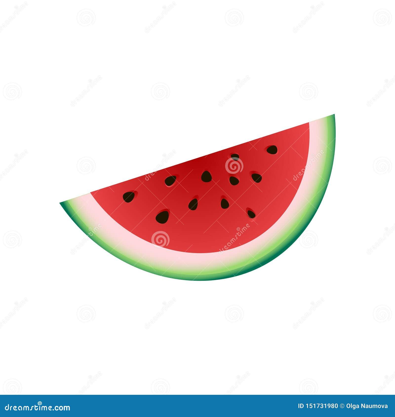 Świeży kawałek czerwony arbuz, lata zimna owoc