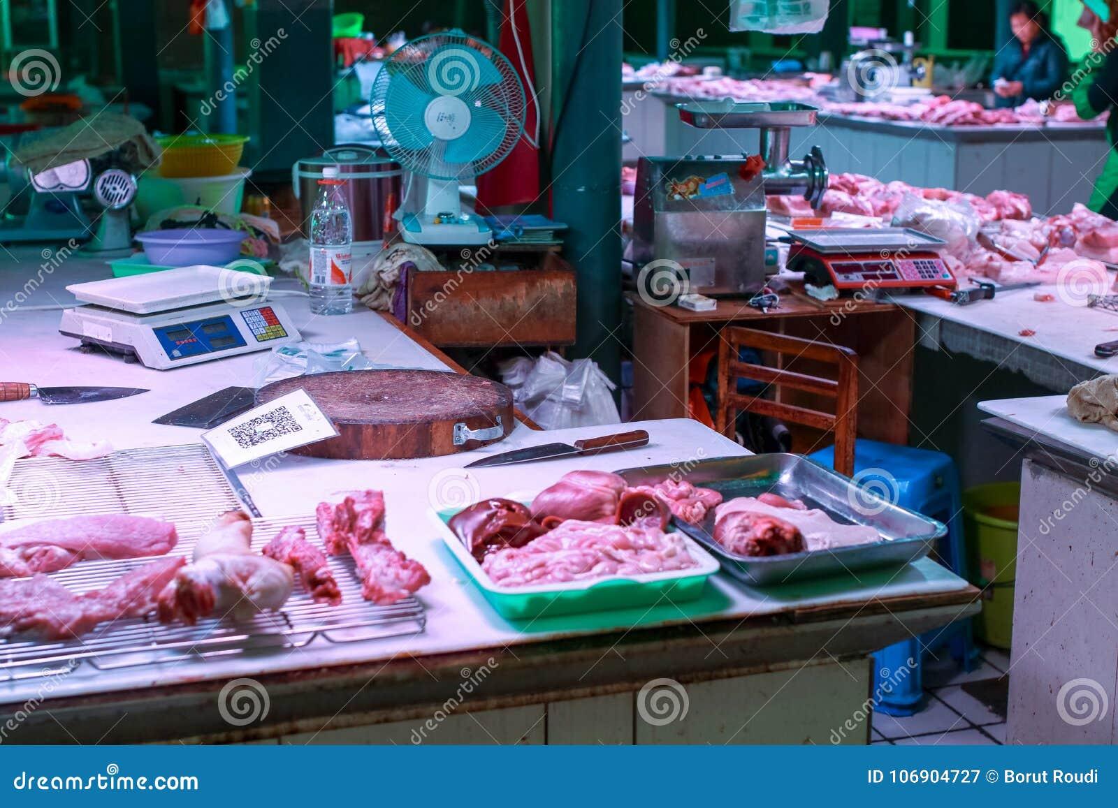 Świeży mięsny rynek