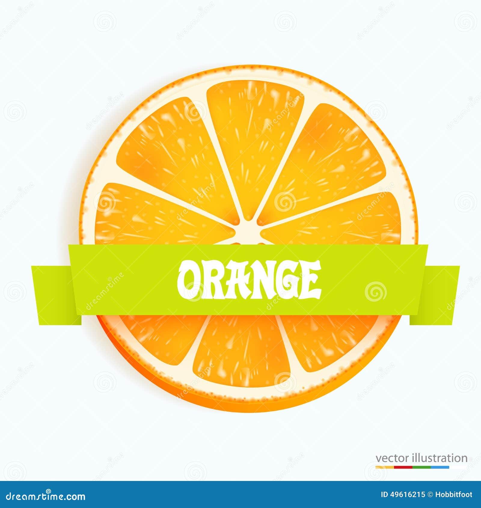 Świeży pomarańczowy plasterek z lampasem
