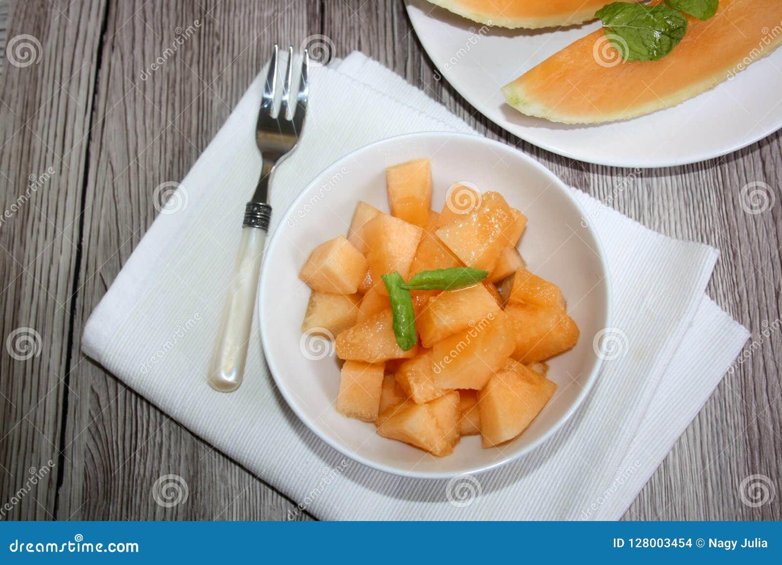 Świeży, słodki melon,