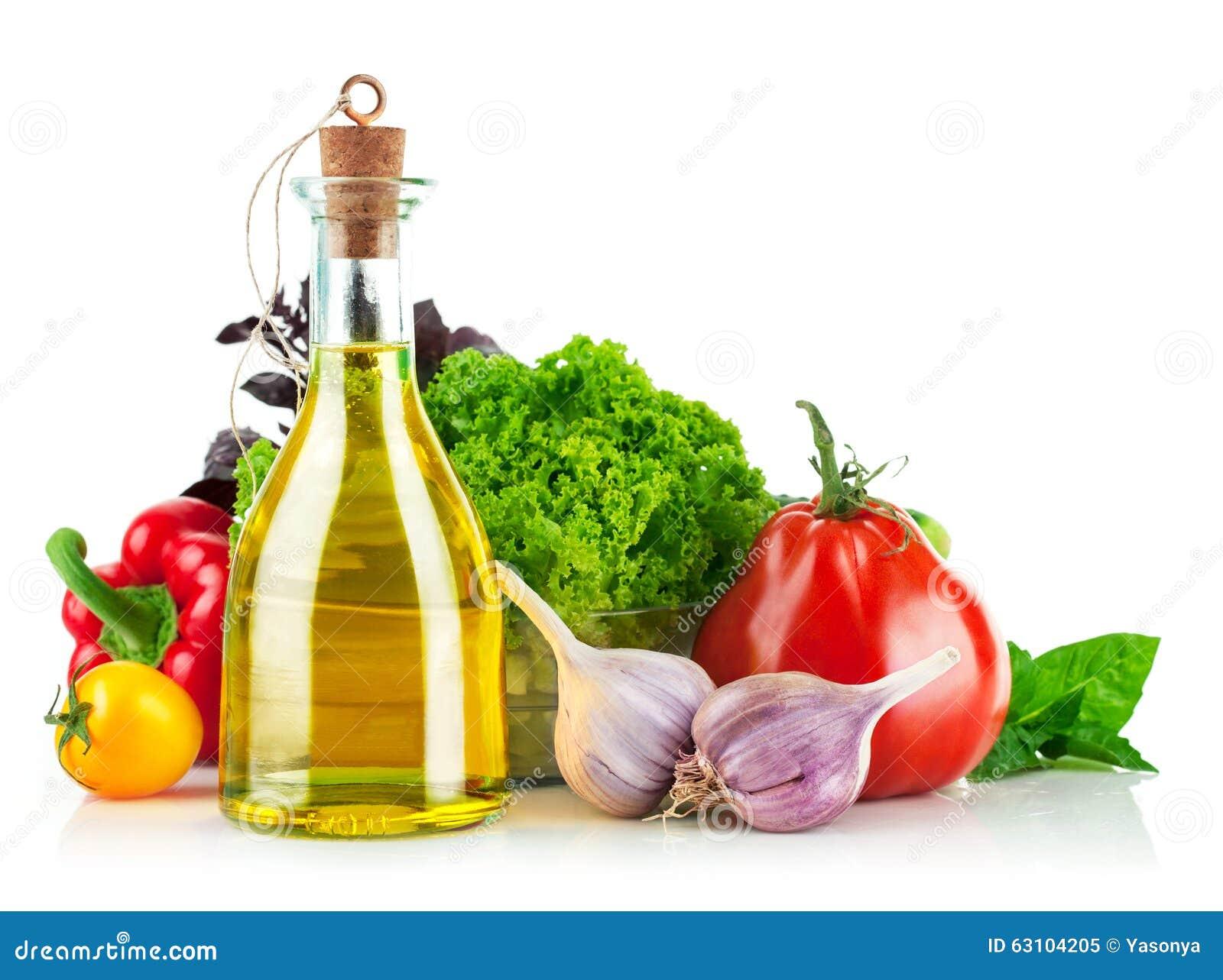 Świeży warzywo z oliwa z oliwek