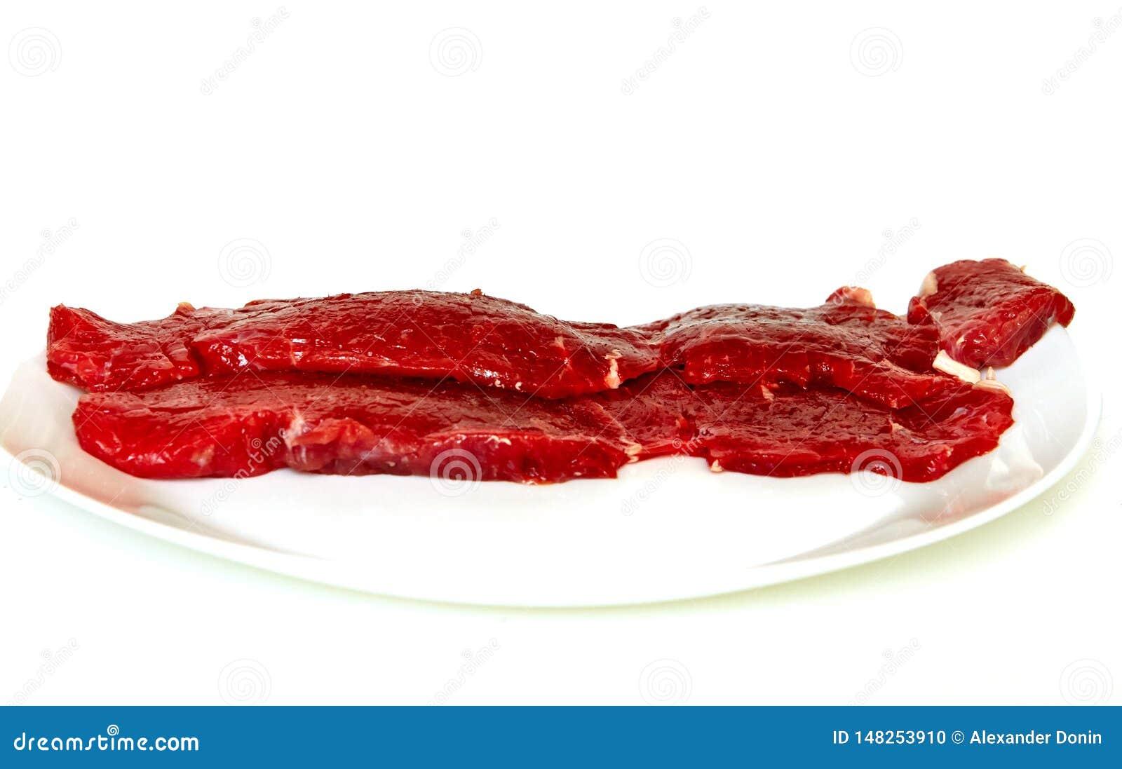 Świeży wołowiny polędwicy stek