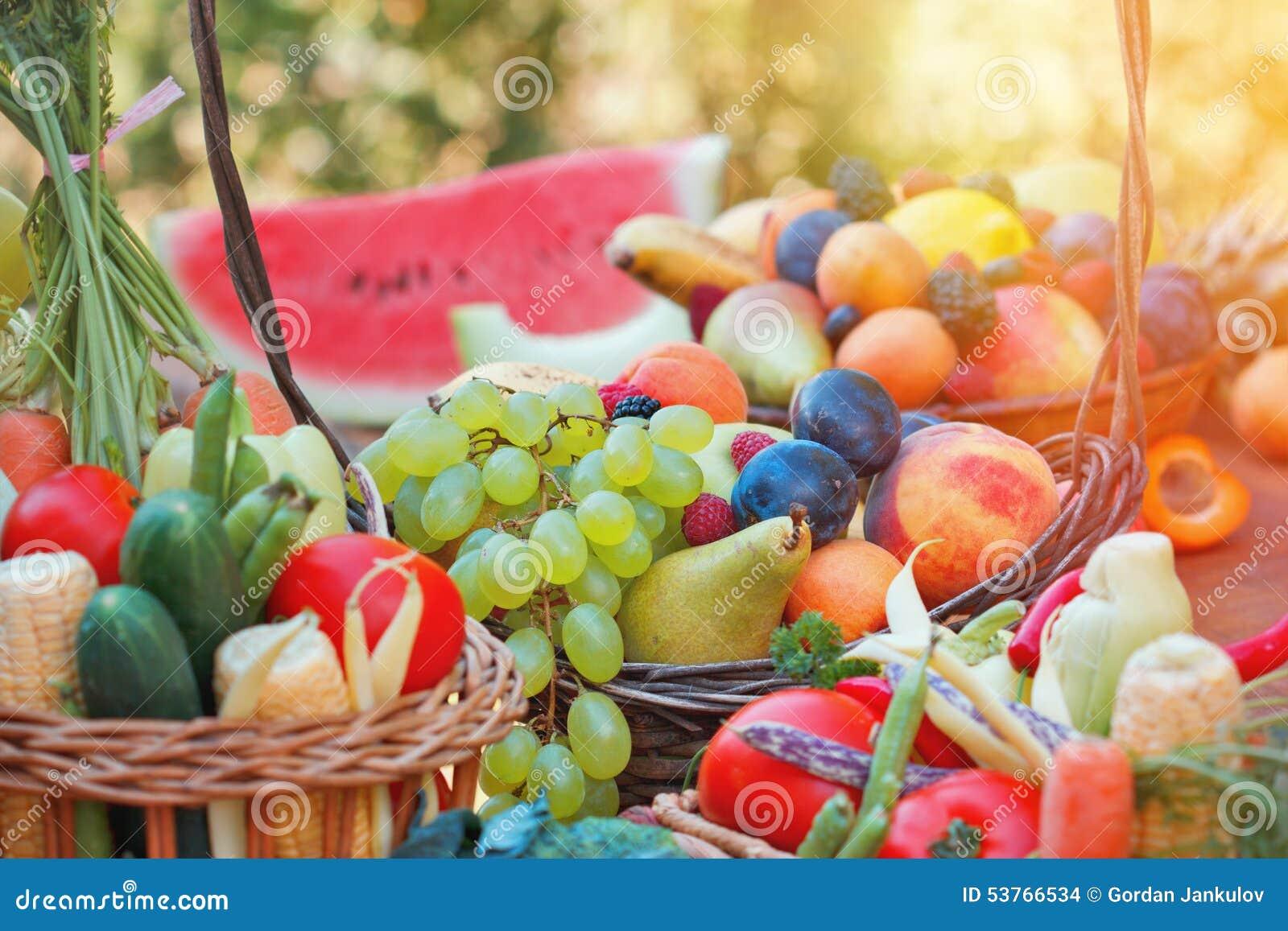 świeżych owoc organicznie warzywa