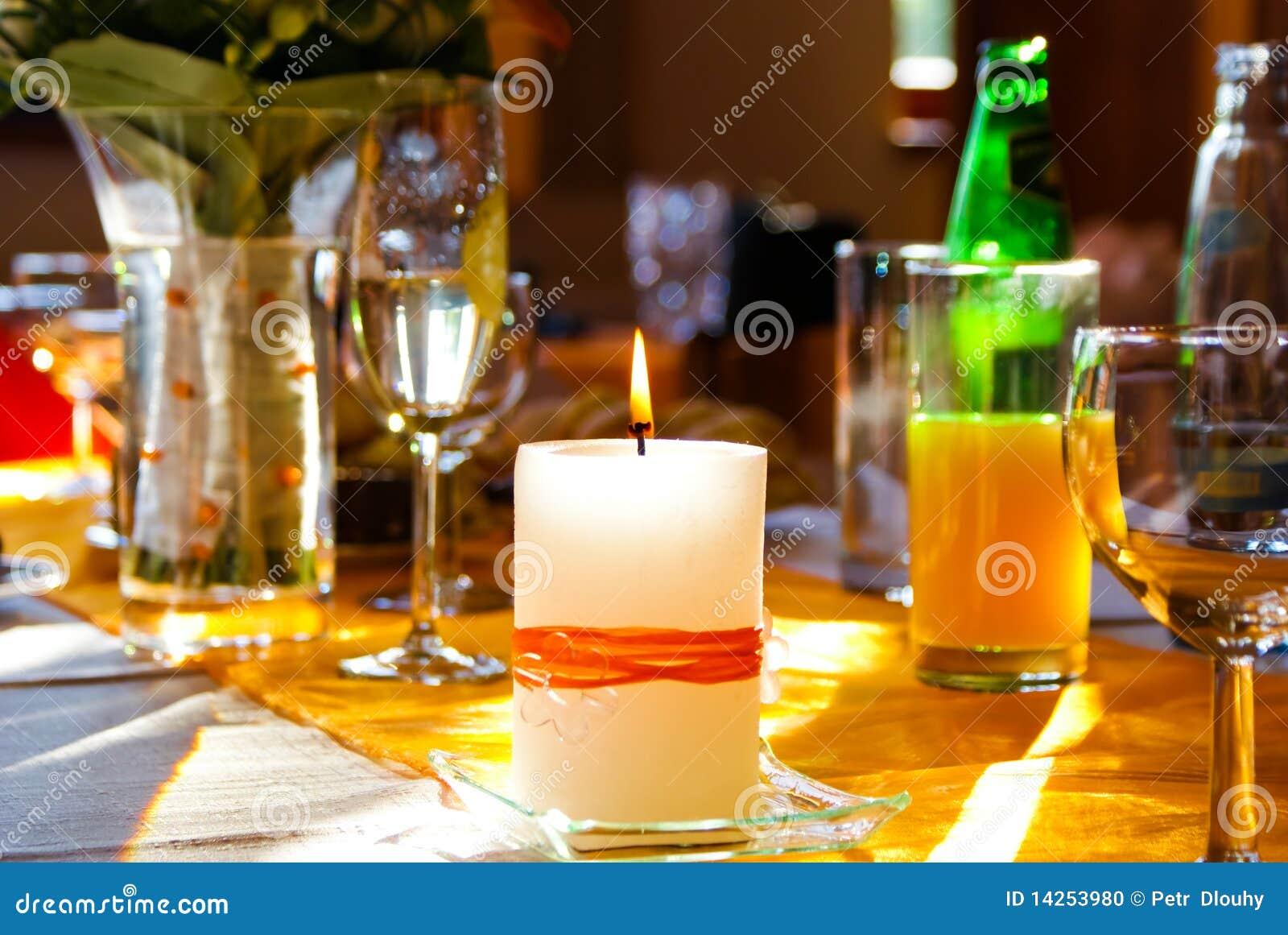 świeczka stół