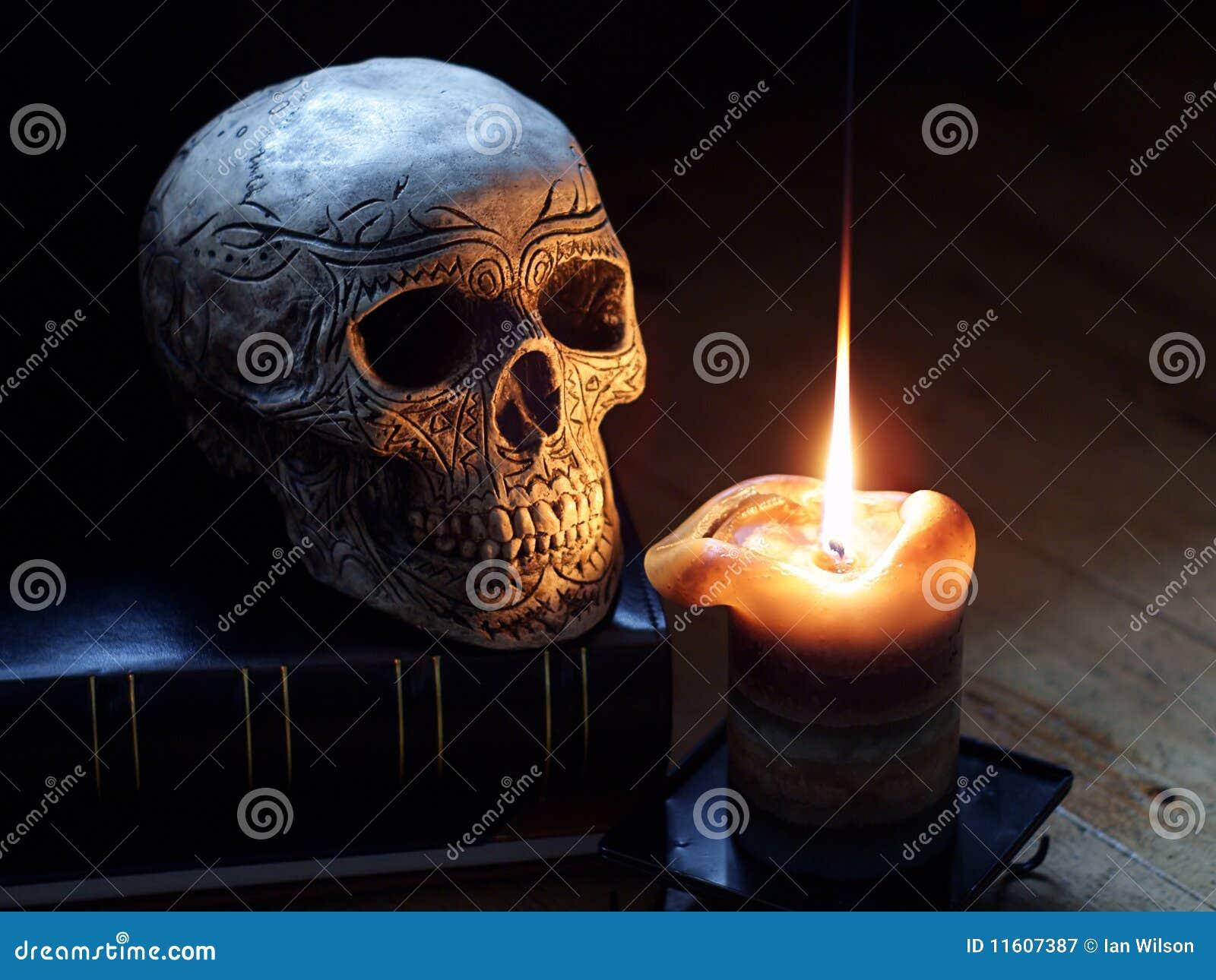 świeczki czaszka