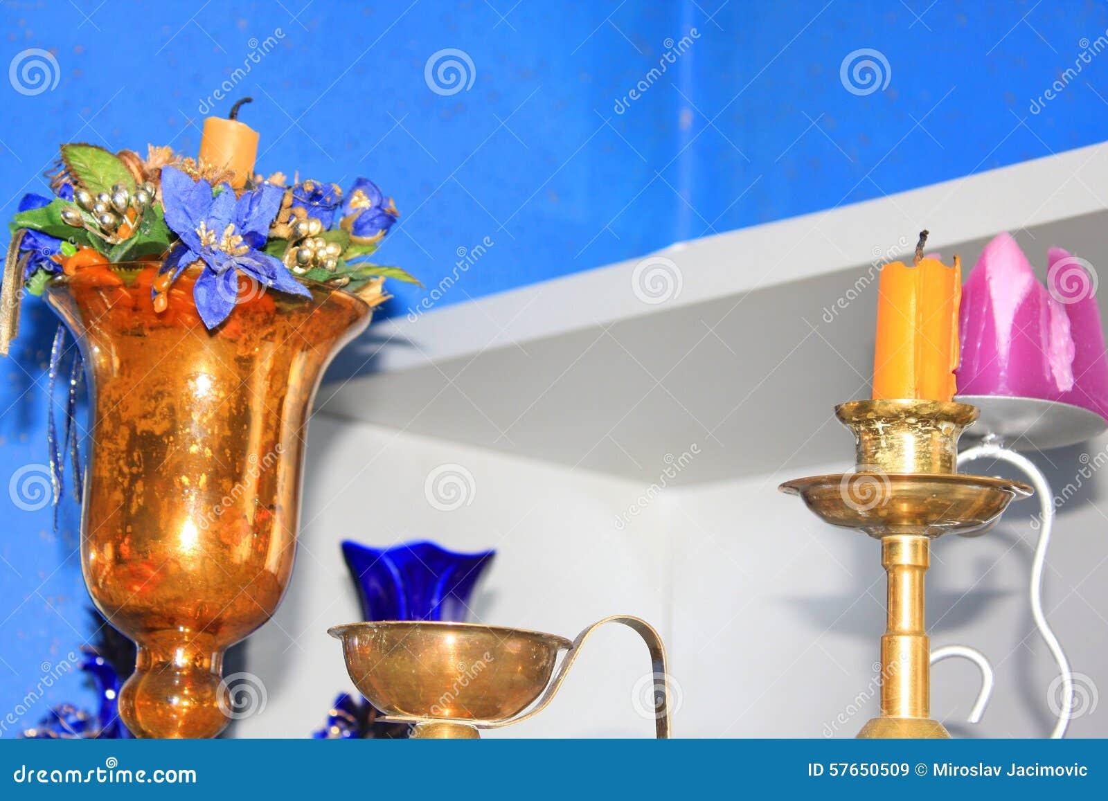 Świeczki dekoracja w kuchni