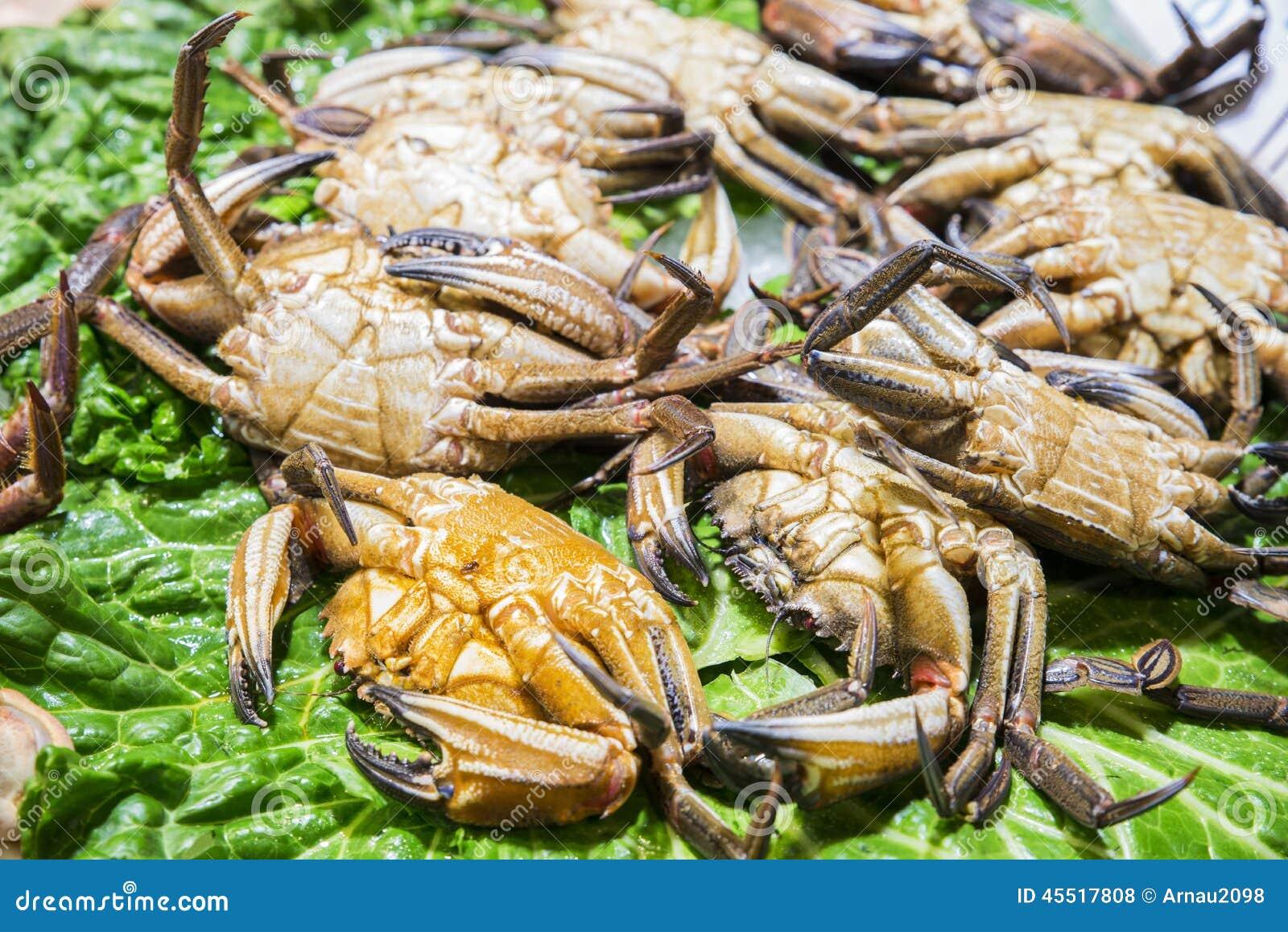 Świezi denni kraby