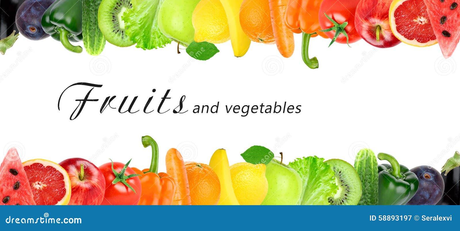 Świezi kolorów owoc i warzywo
