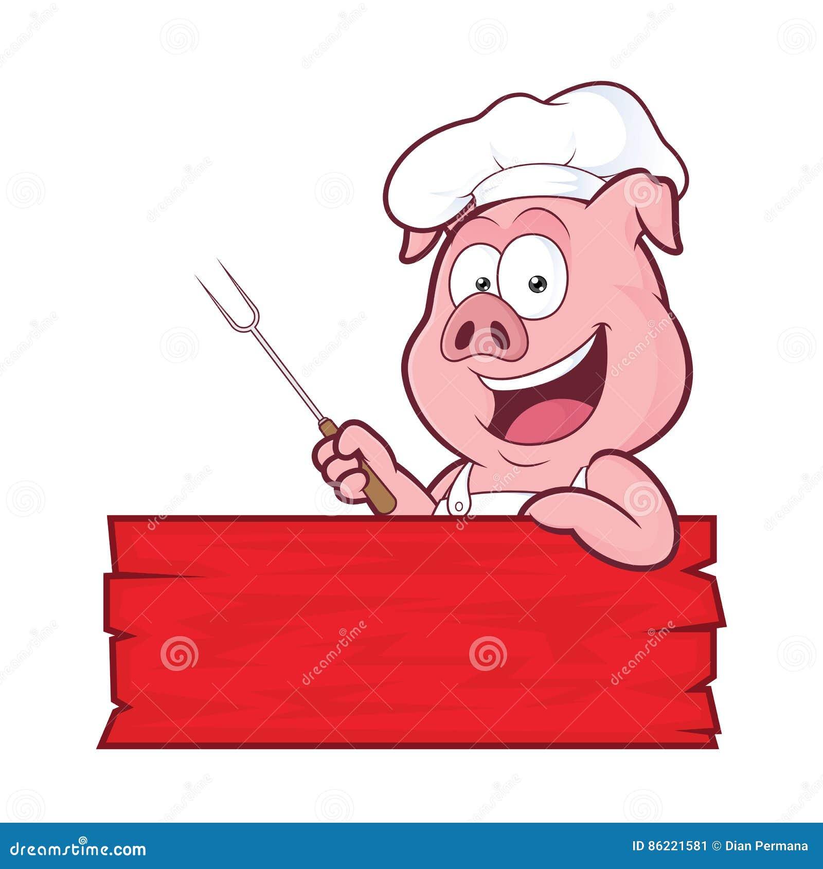 Świniowaty BBQ szef kuchni