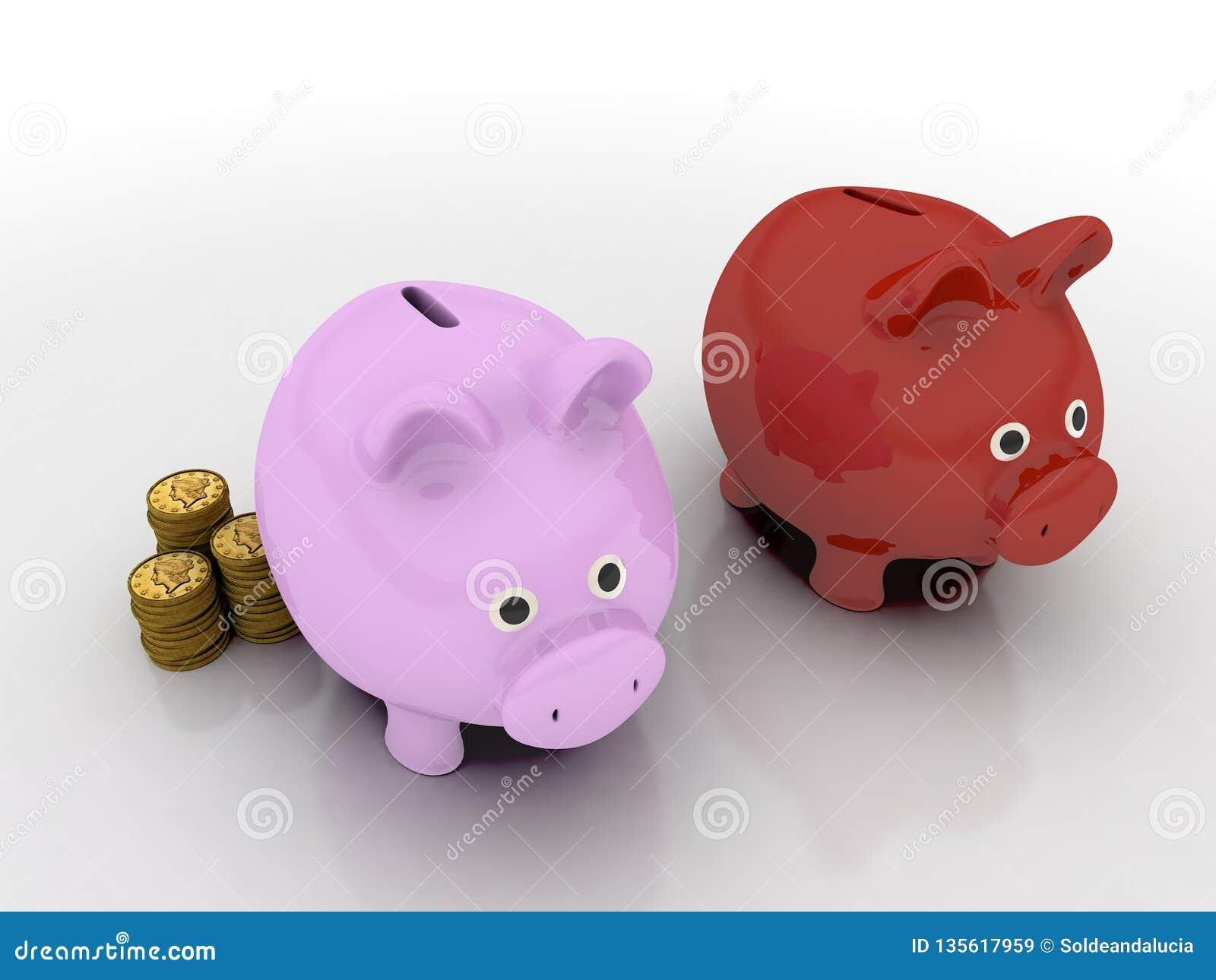 Świniowaty pieniądze pudełko